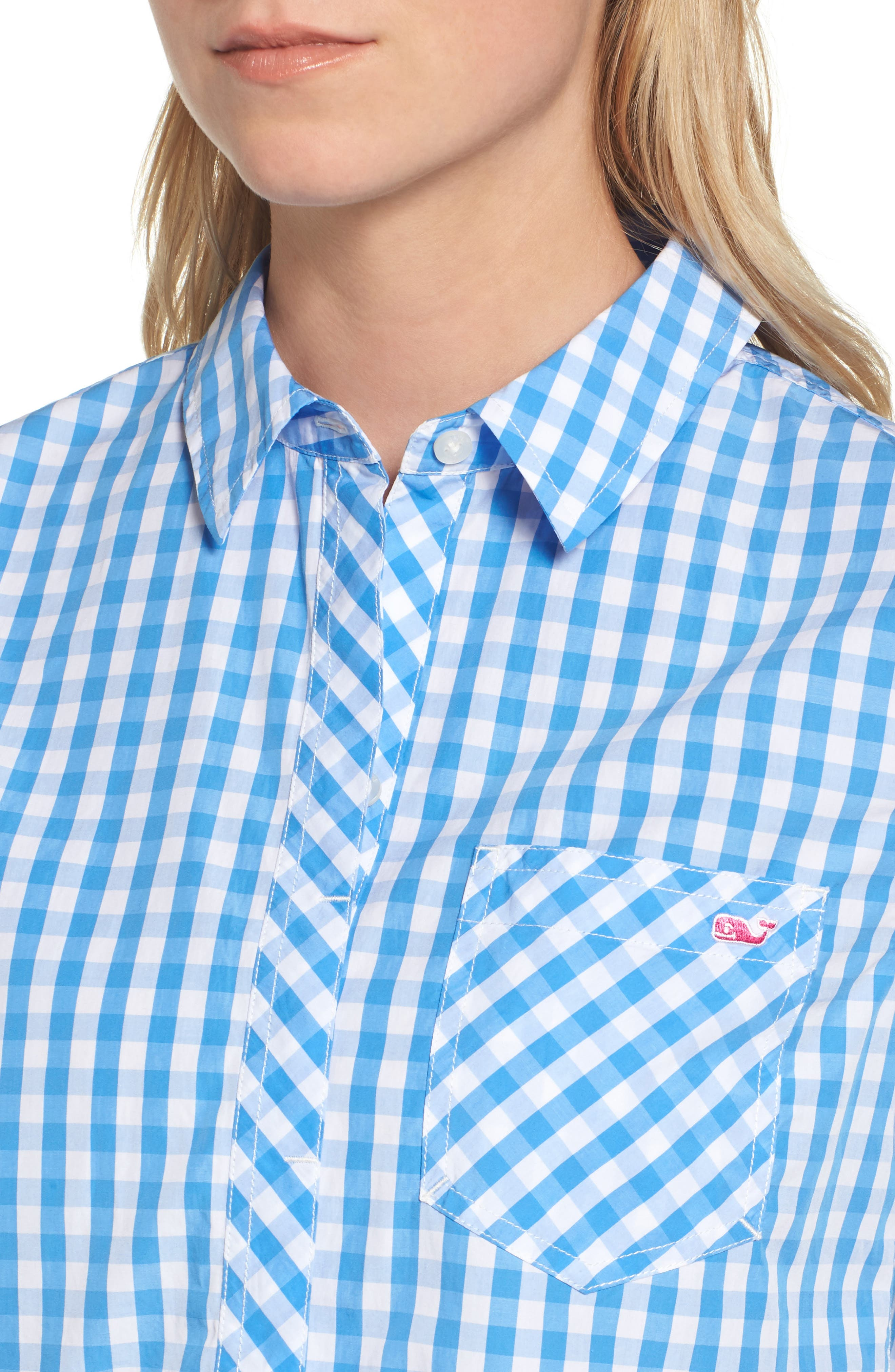 Seabreeze Gingham Pocket Shirt,                             Alternate thumbnail 4, color,                             464