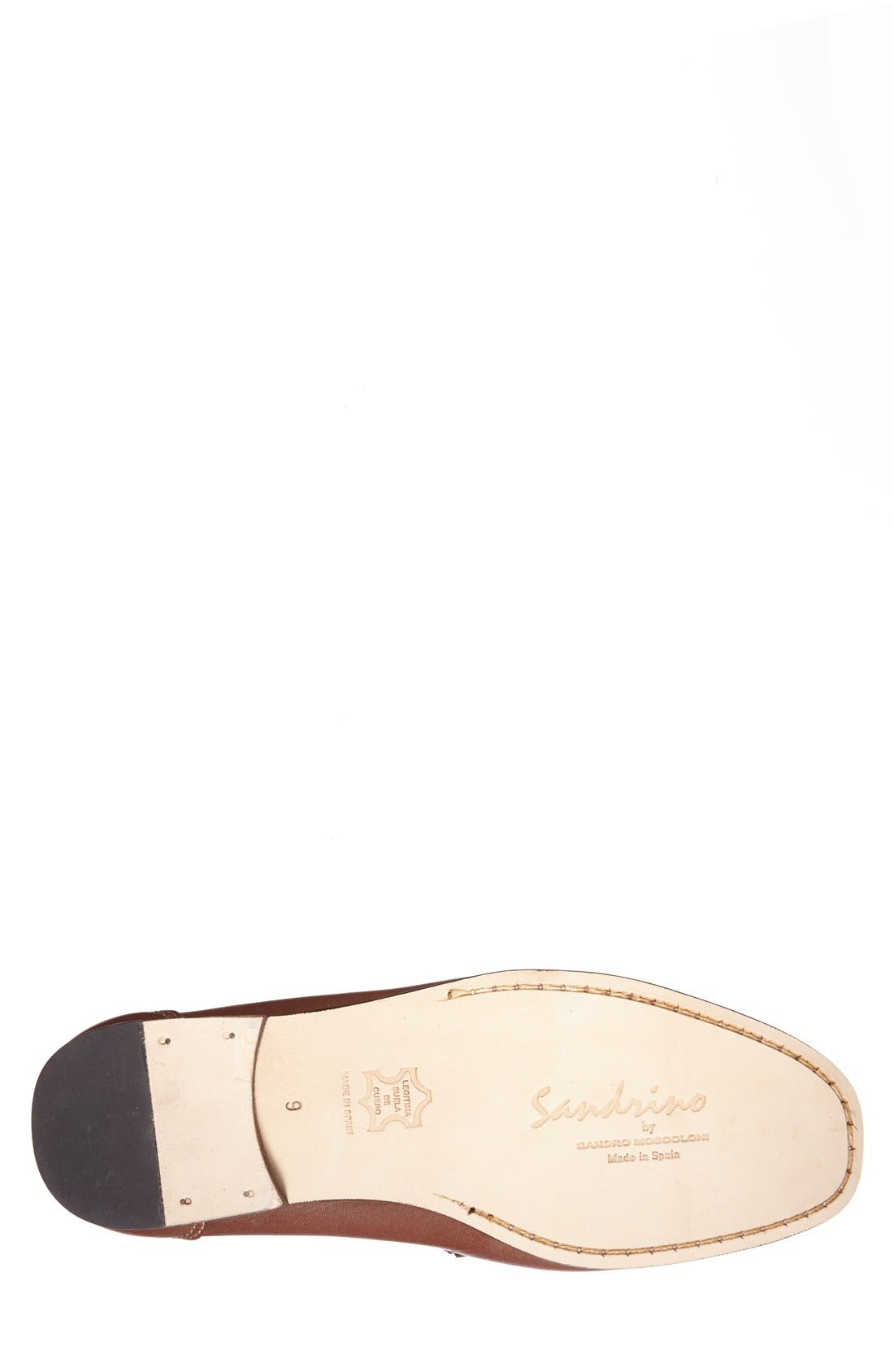 'San Remo' Leather Bit Loafer,                             Alternate thumbnail 4, color,                             BROWN