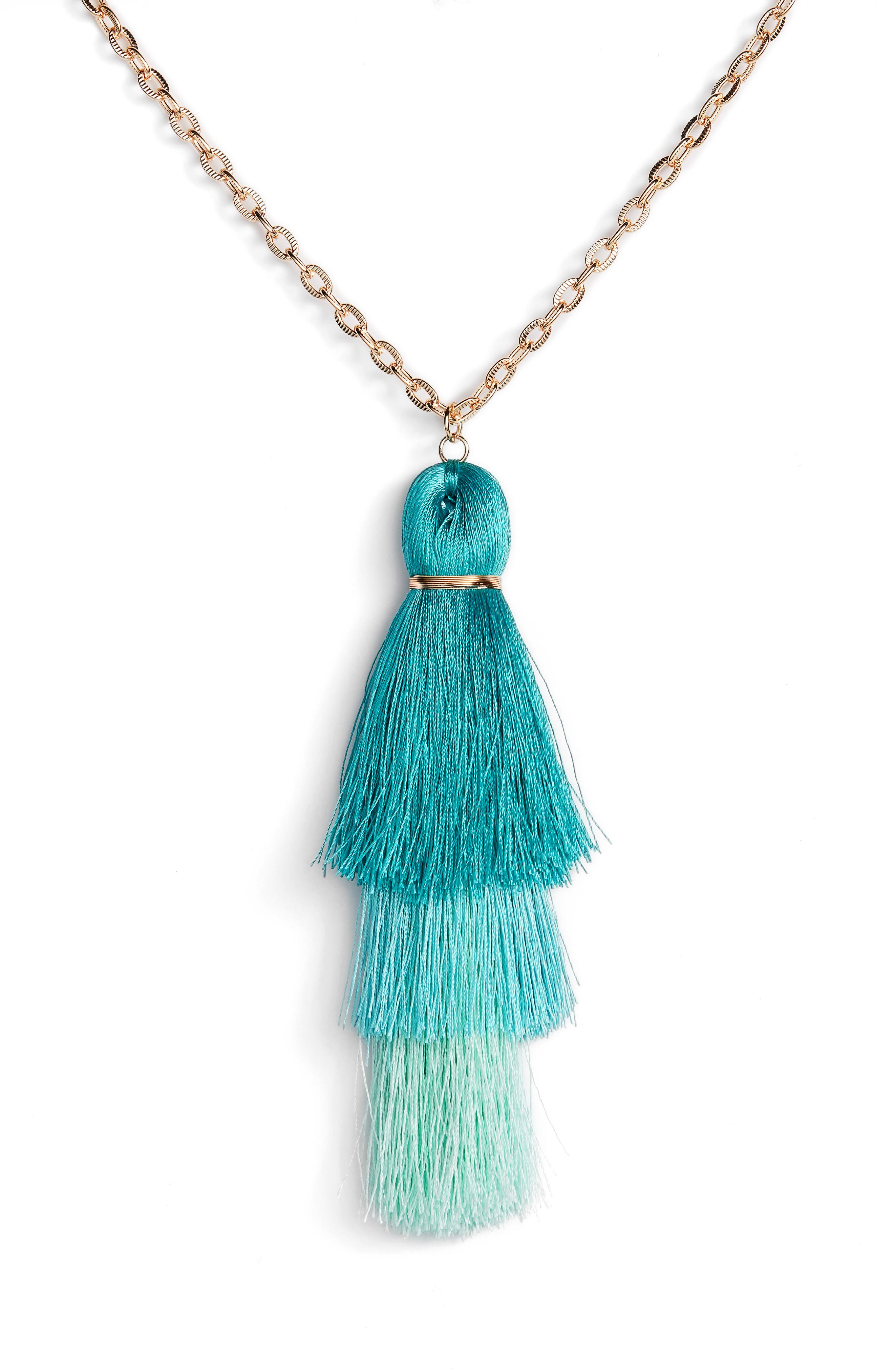 STELLA + RUBY,                             Tiered Tassel Necklace,                             Alternate thumbnail 2, color,                             710