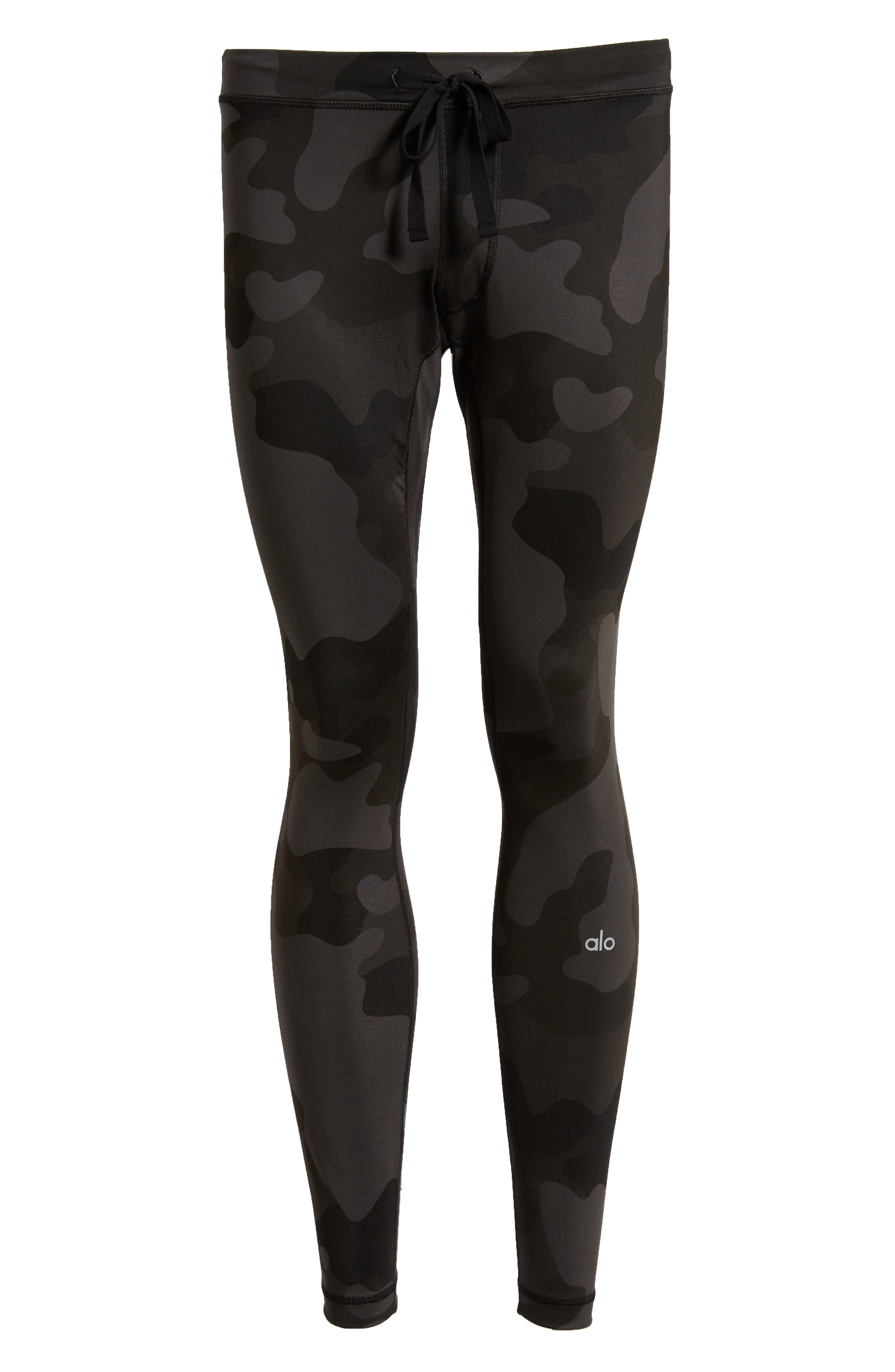Warror Compression Tights,                             Alternate thumbnail 6, color,                             ONYX CAMO