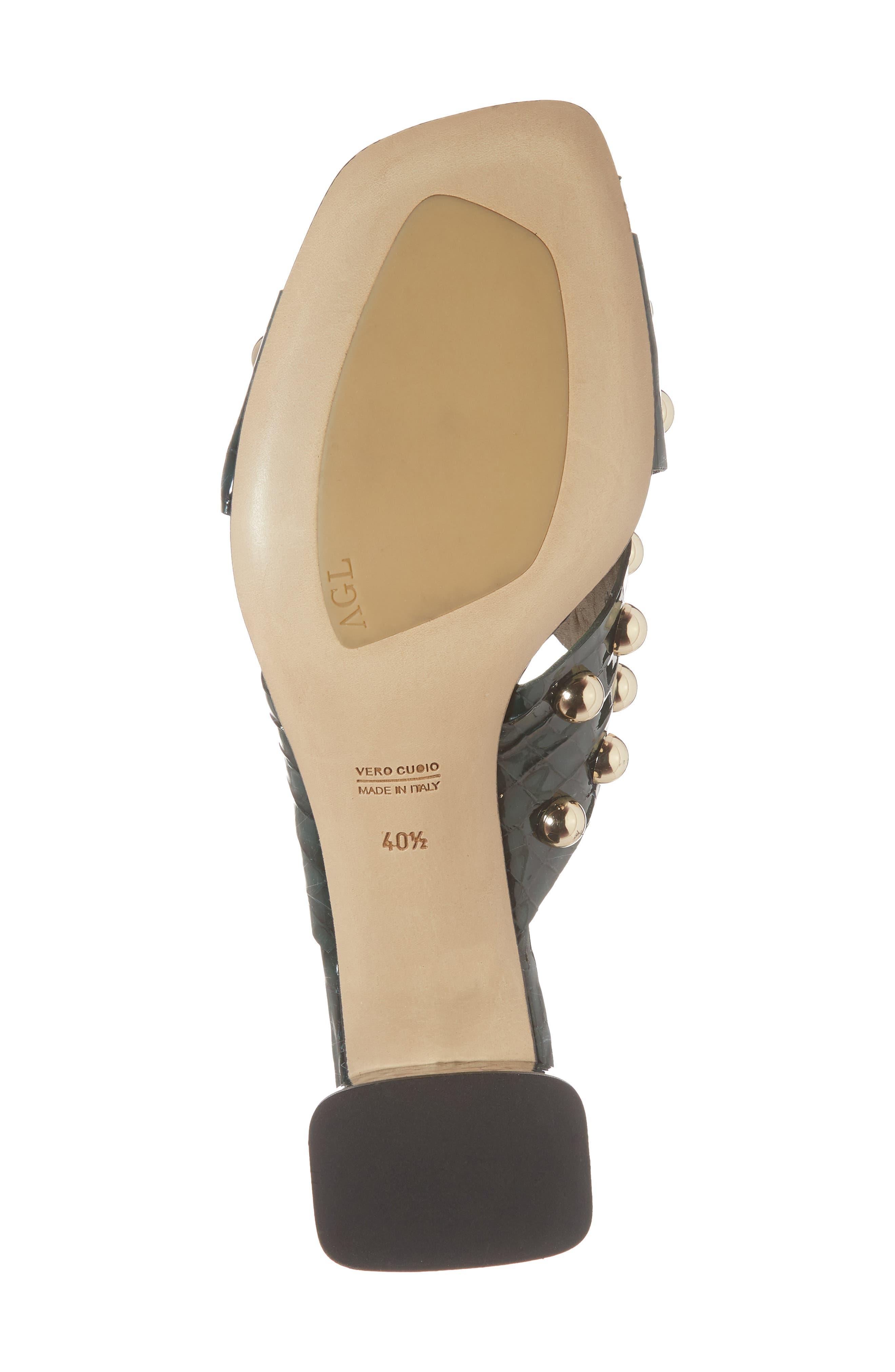 Studded Block Heel Slide Sandal,                             Alternate thumbnail 6, color,                             301