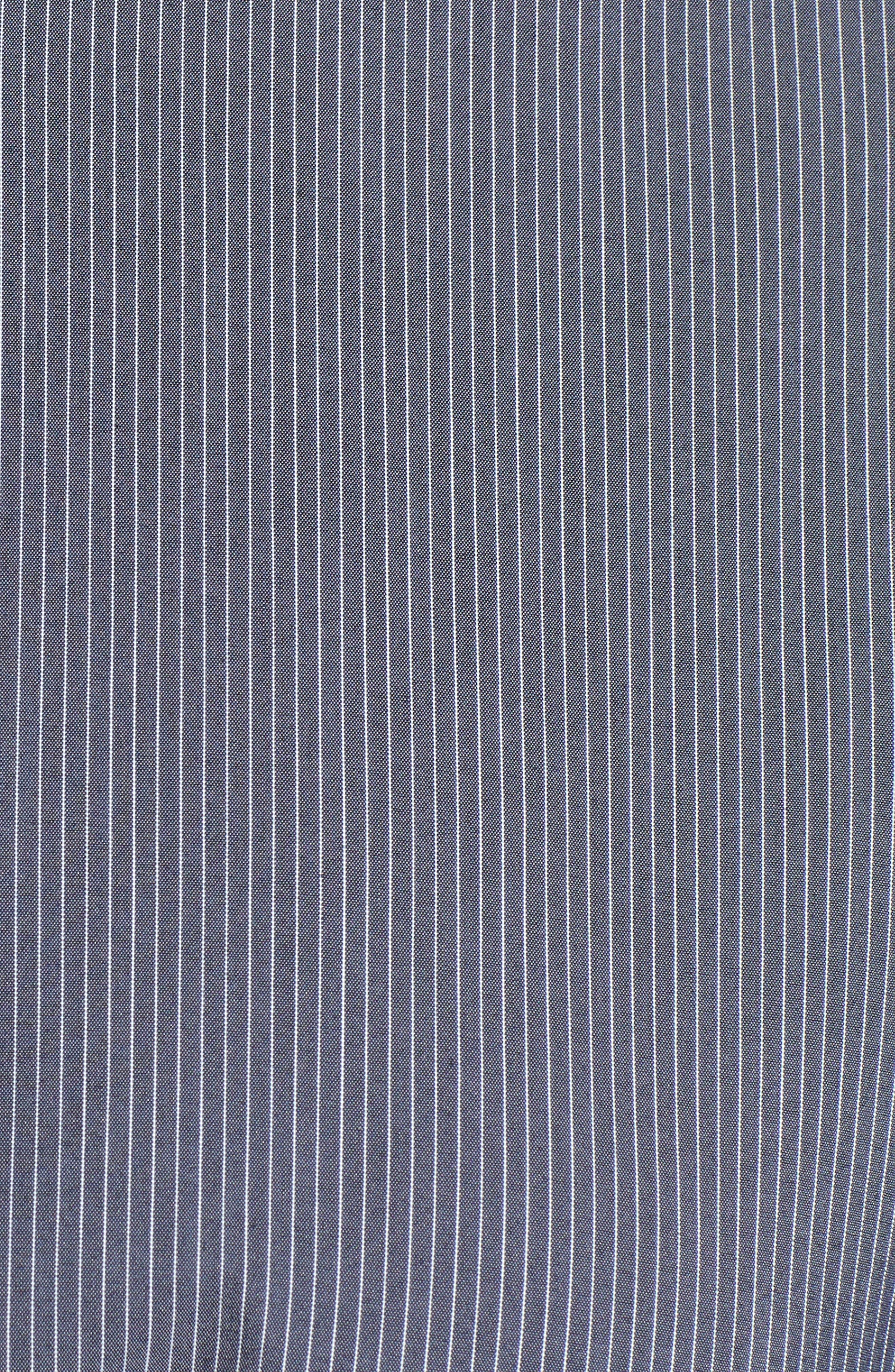 Belted Poplin Shirt,                             Alternate thumbnail 5, color,                             001