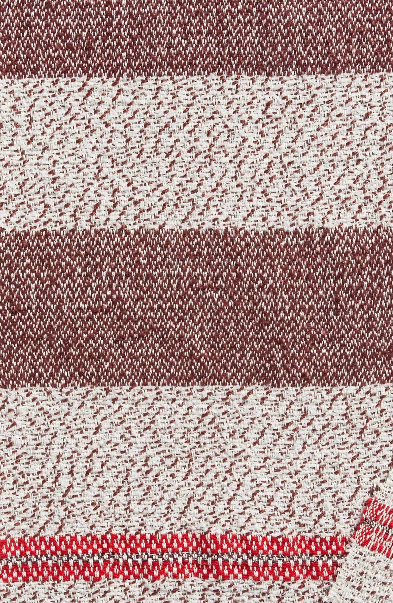 Stripe Throw,                             Alternate thumbnail 4, color,