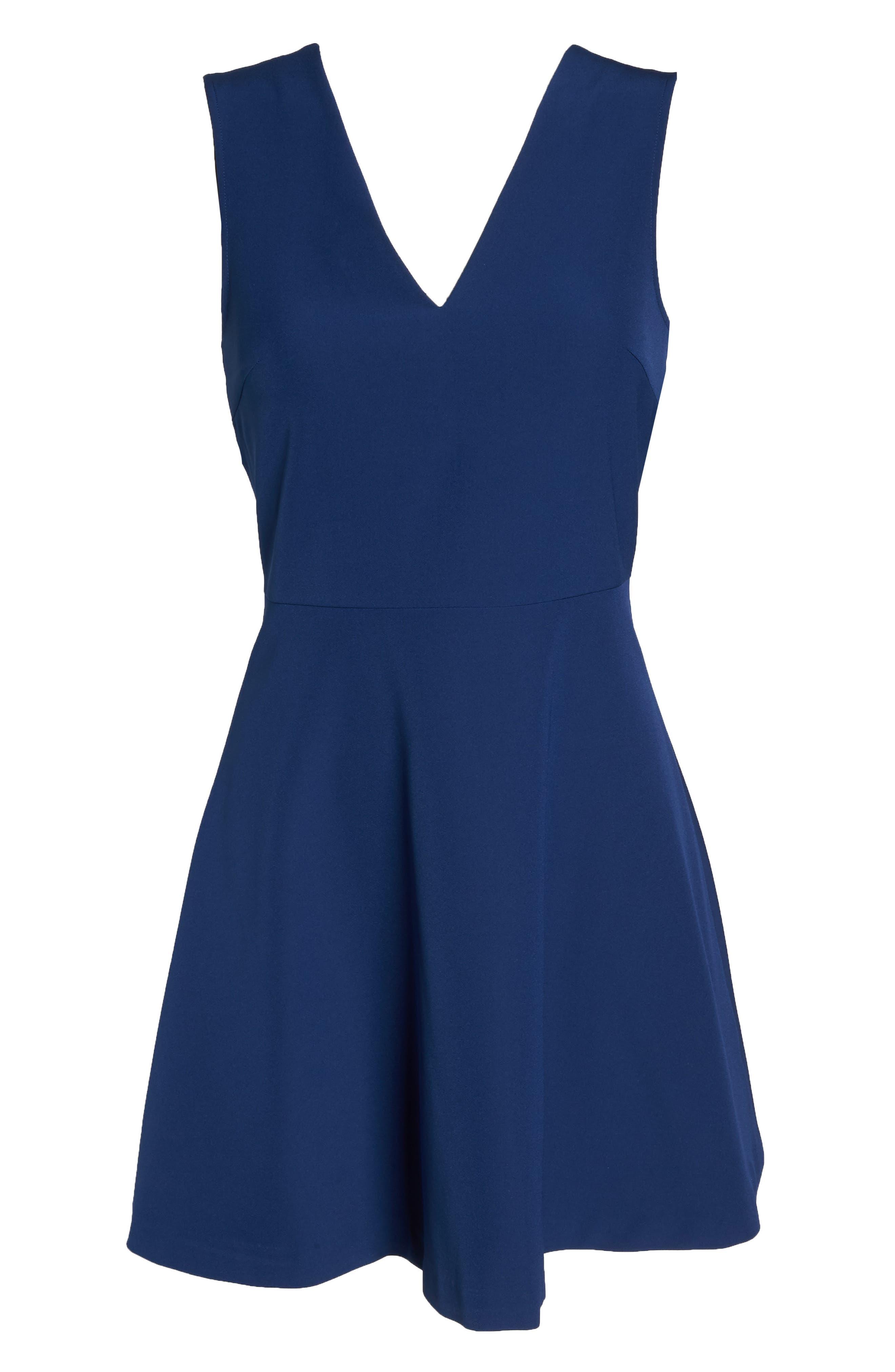 Bianca Back Cutout Fit & Flare Dress,                             Alternate thumbnail 81, color,