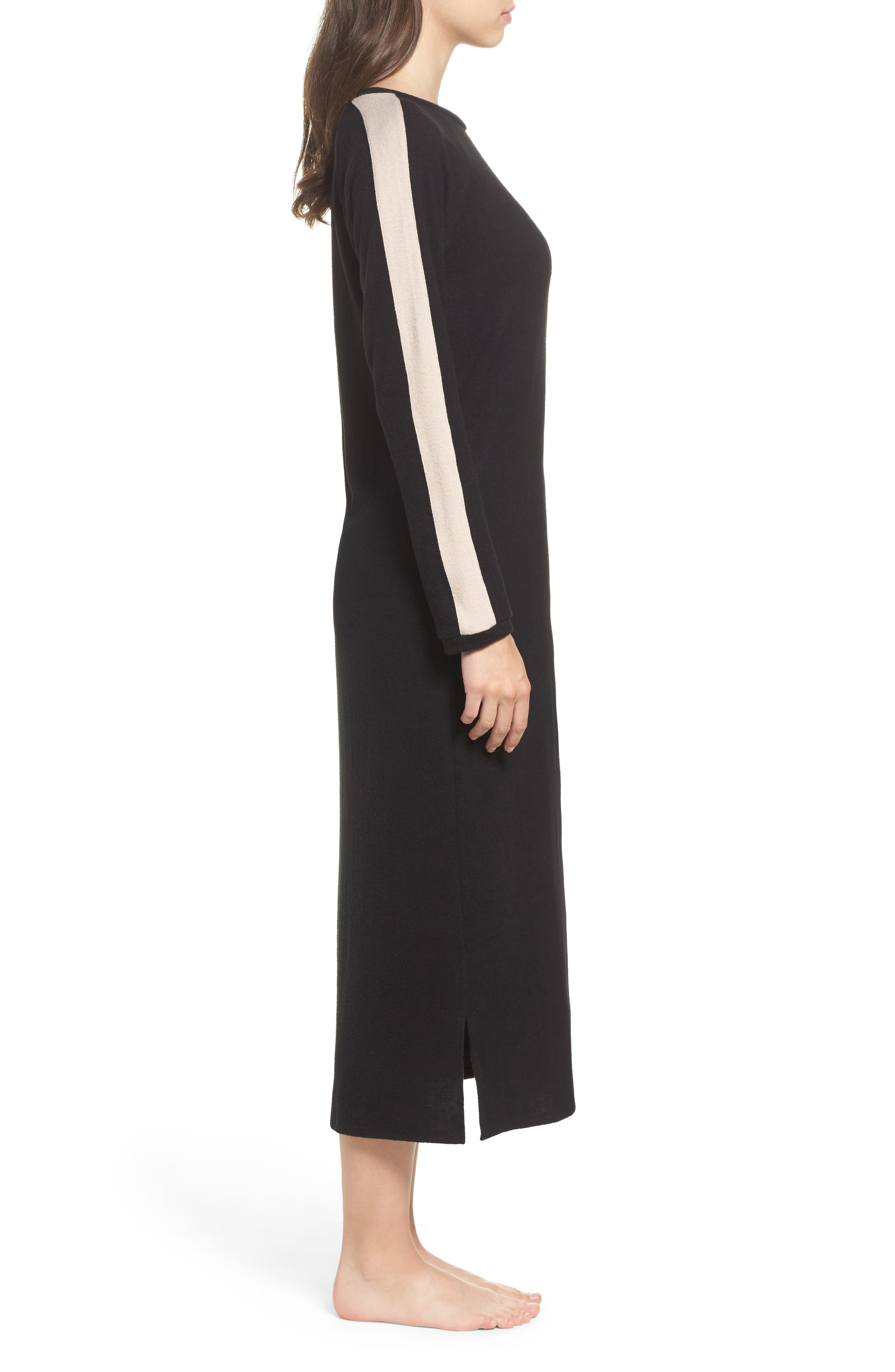 Maxi Nightgown,                             Alternate thumbnail 3, color,                             001