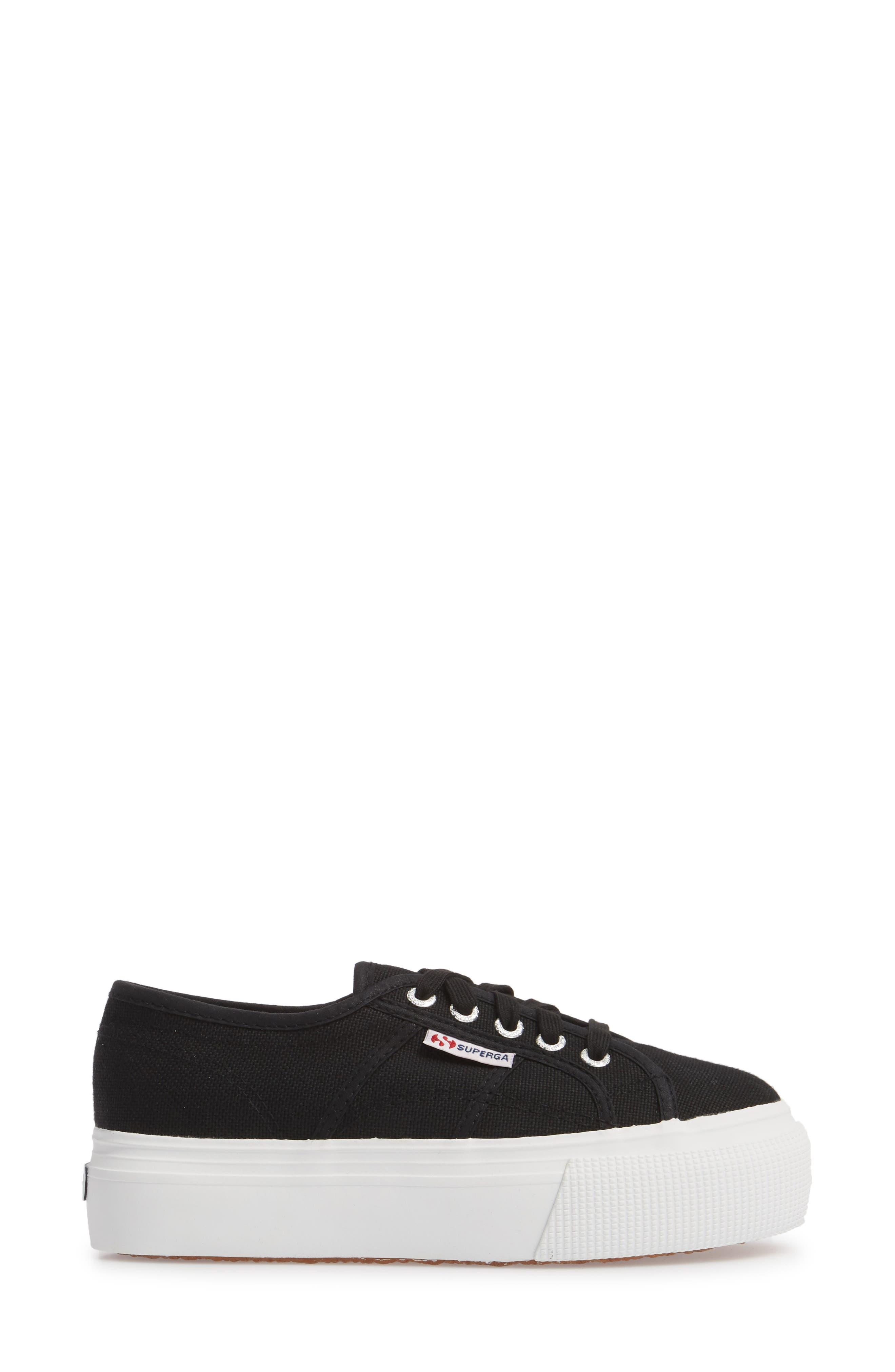 'Acot Linea' Sneaker,                             Alternate thumbnail 3, color,                             BLACK/ WHITE