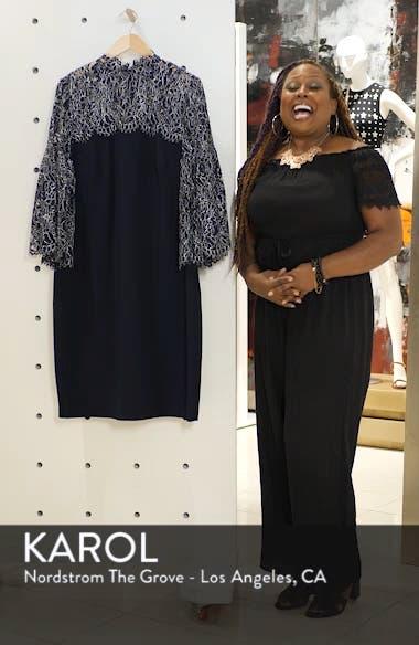 Lace Yoke Scuba Crepe Dress, sales video thumbnail