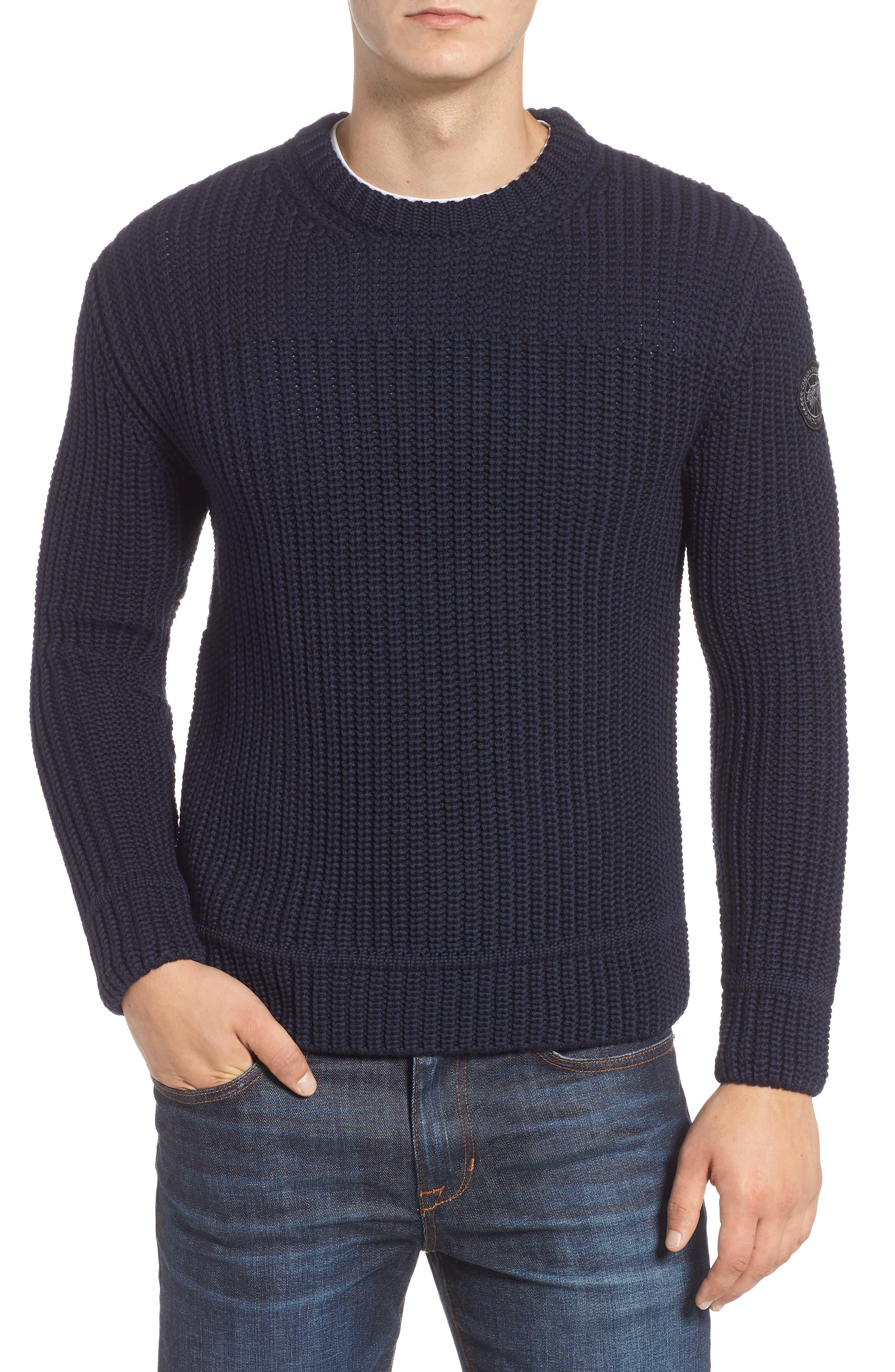 Galloway Regular Fit Merino Wool Sweater in Navy