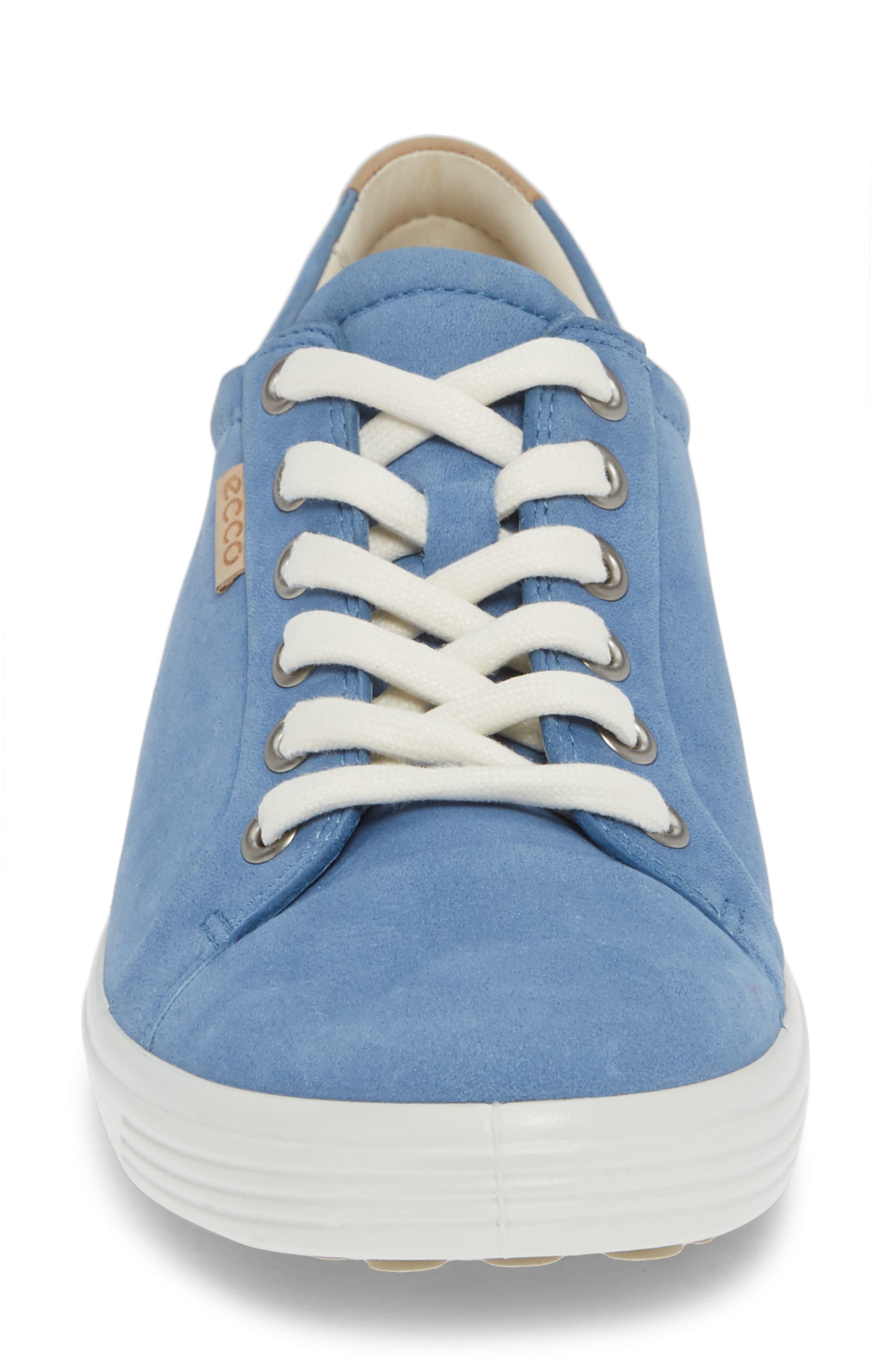 Soft 7 Sneaker,                             Alternate thumbnail 4, color,                             RETRO BLUE LEATHER
