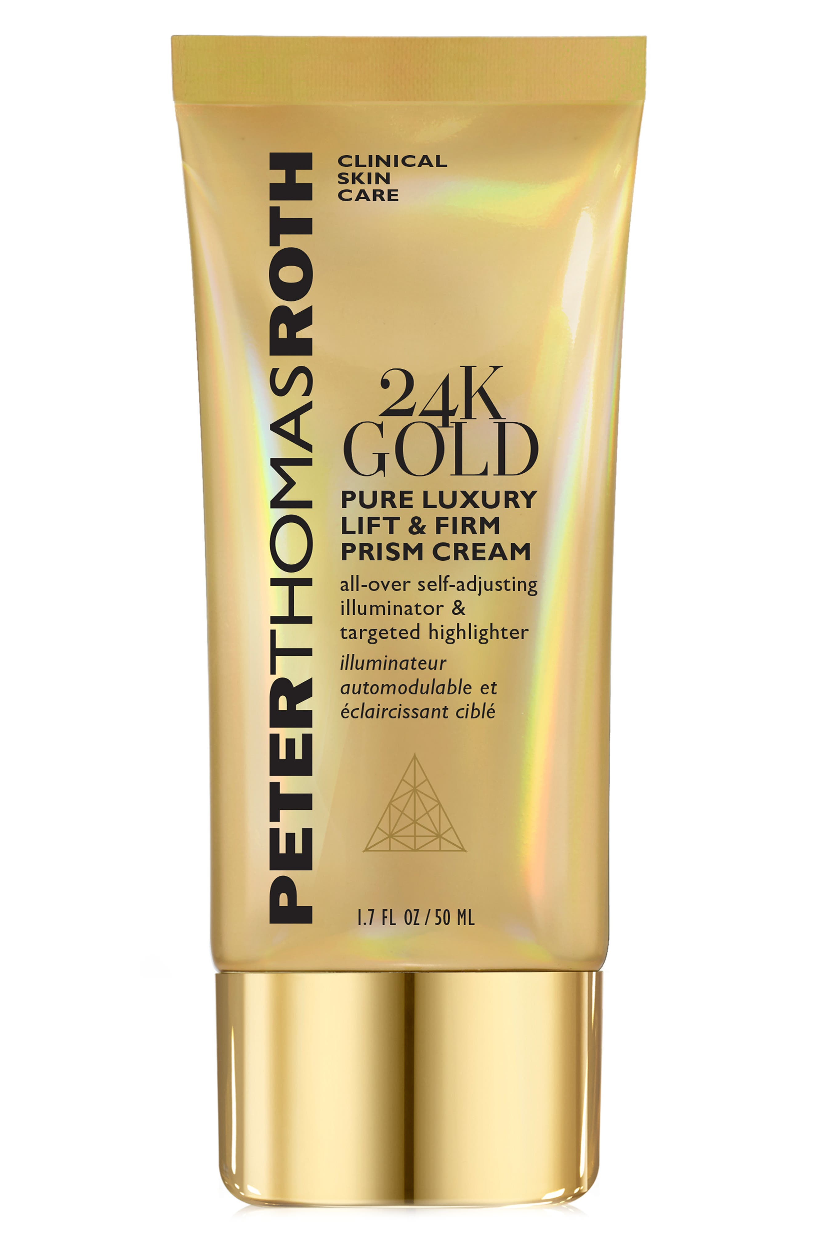 24K Gold Pure Luxury Lift & Firm Prism Cream,                             Main thumbnail 1, color,                             NO COLOR