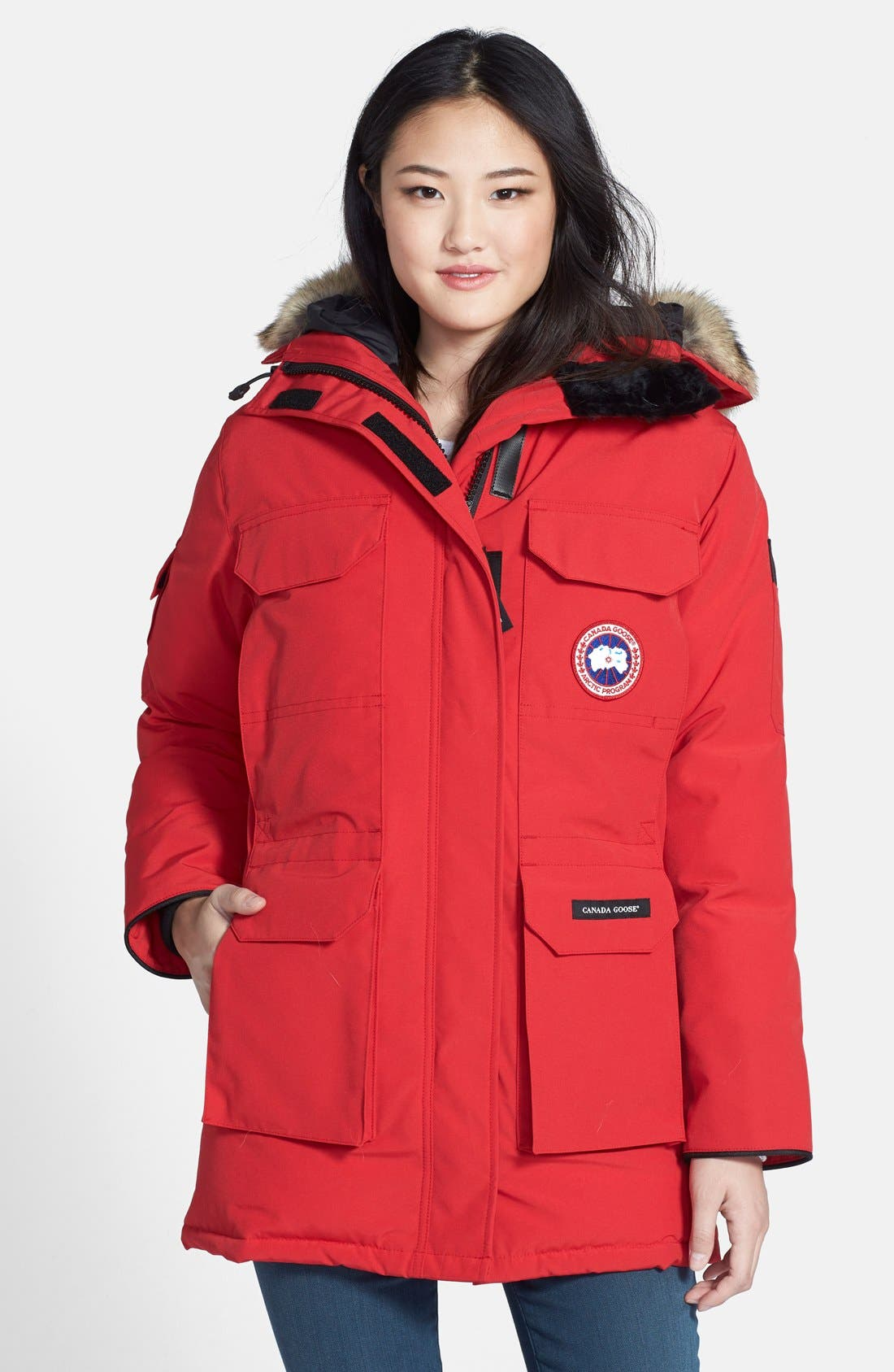 'Expedition' Relaxed Fit Down Parka with Genuine Coyote Fur,                         Main,                         color, 600