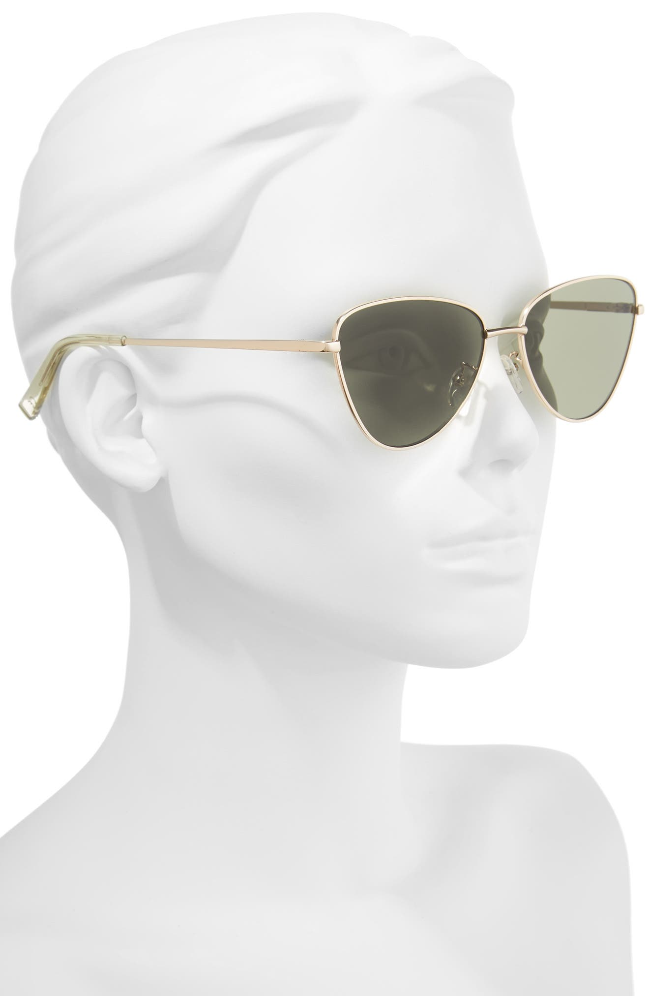 Echo 50mm Butterfly Sunglasses,                             Alternate thumbnail 2, color,                             MATTE GOLD