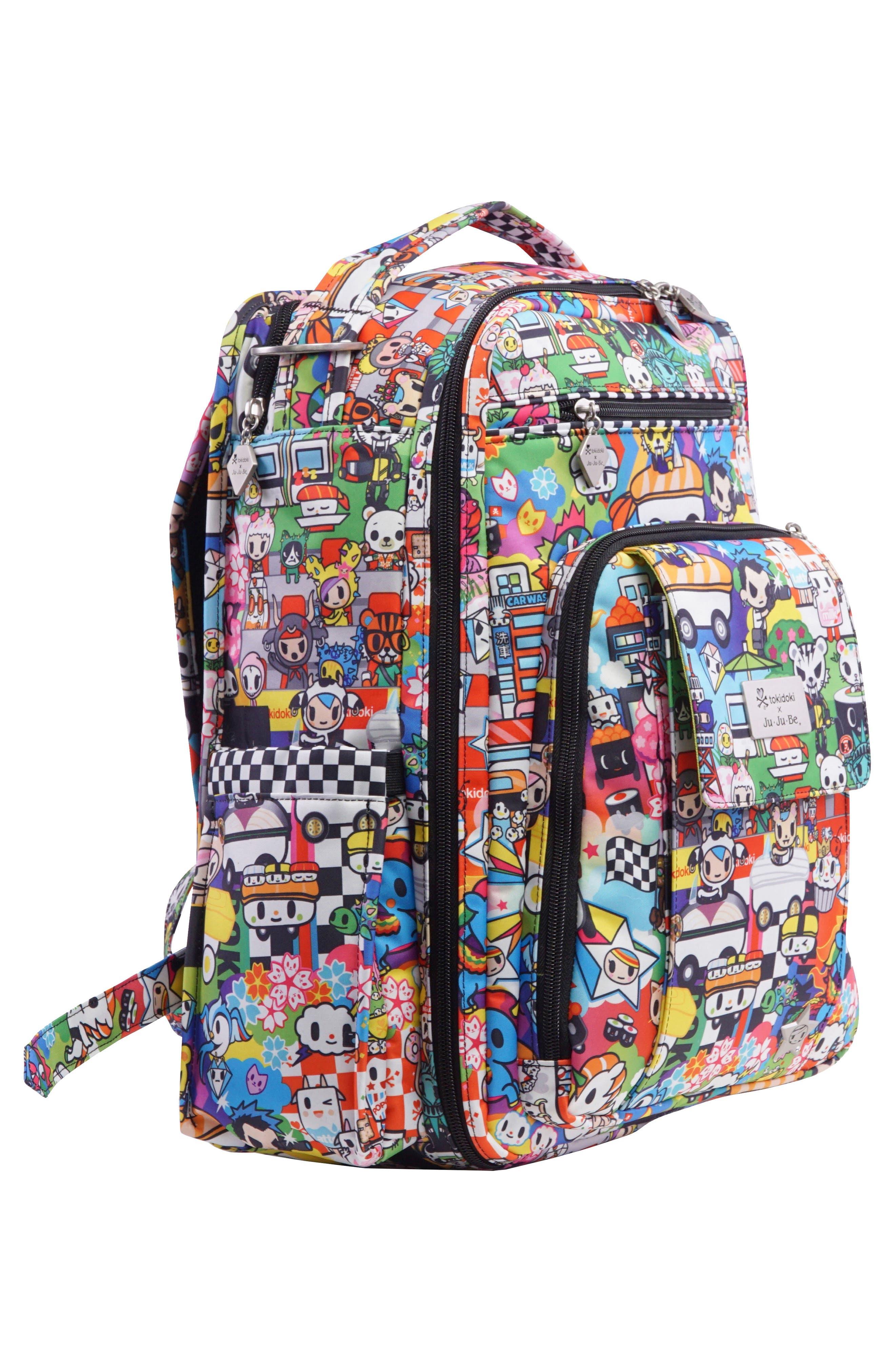 tokidoki x Ju-Ju-Be 'Be Right Back' Diaper Backpack,                             Alternate thumbnail 4, color,                             SUSHI CARS