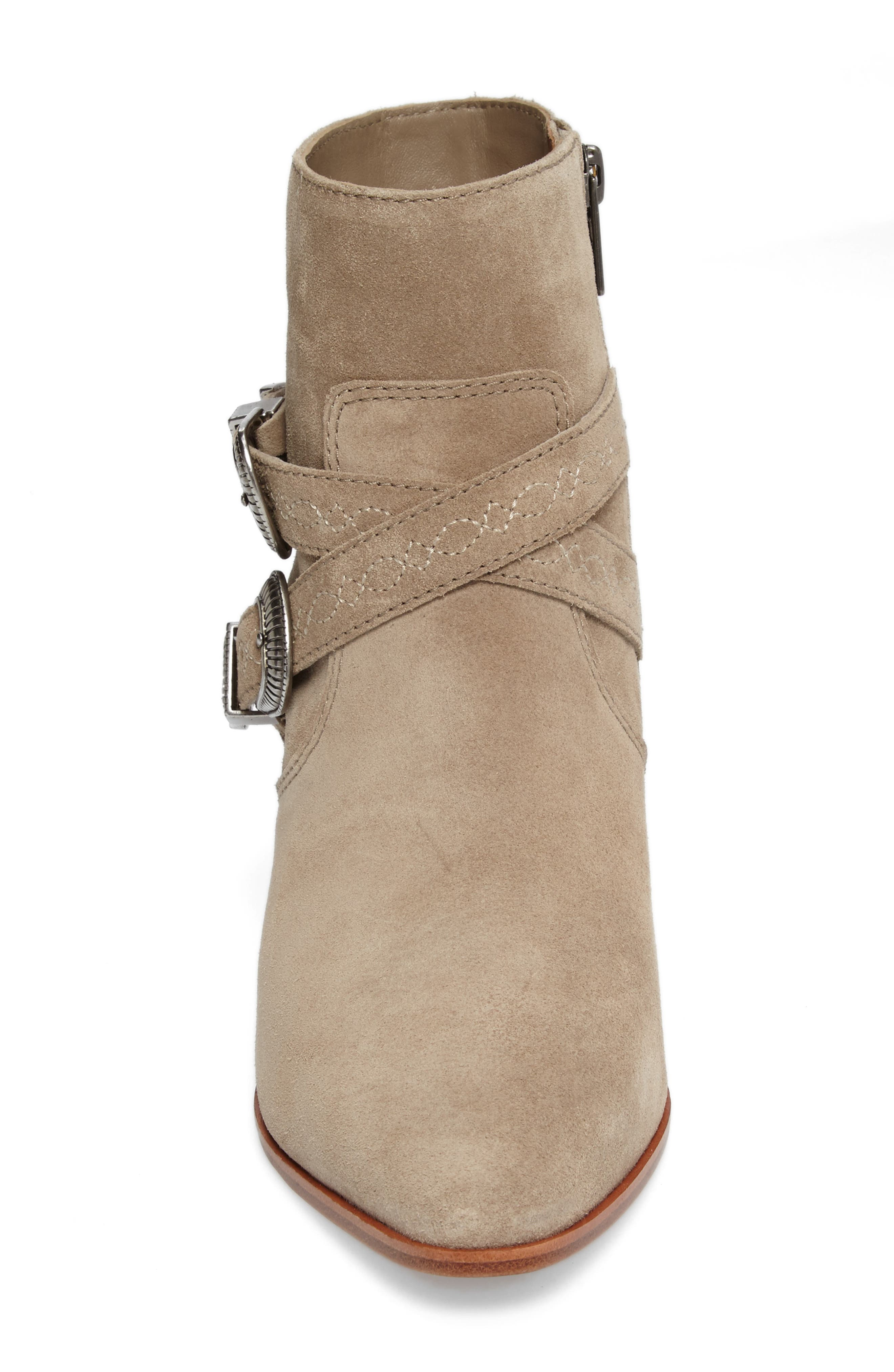 Ellen Buckle Strap Bootie,                             Alternate thumbnail 4, color,                             ASH