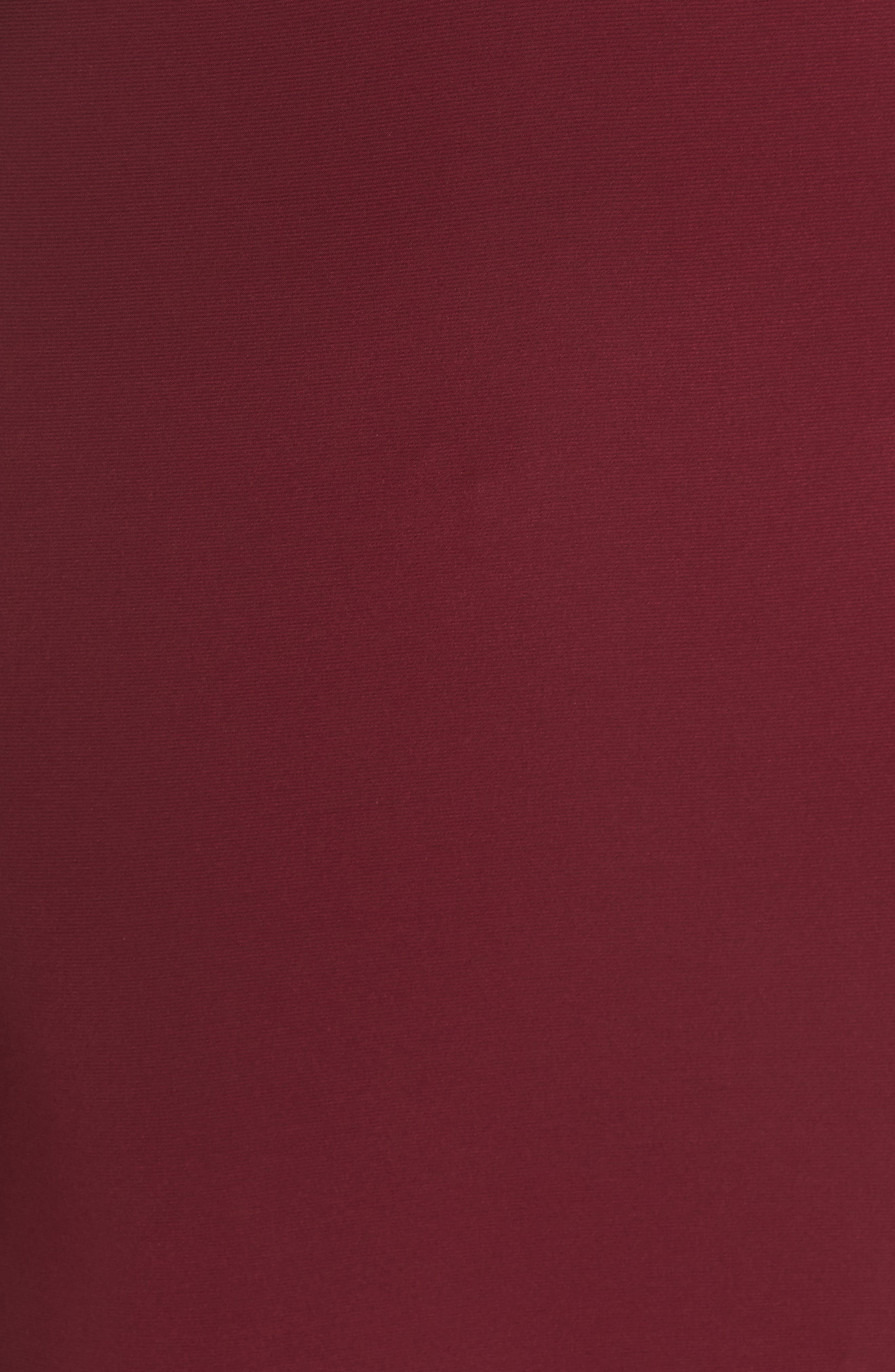 Embellished Illusion Gown,                             Alternate thumbnail 5, color,                             MERLOT