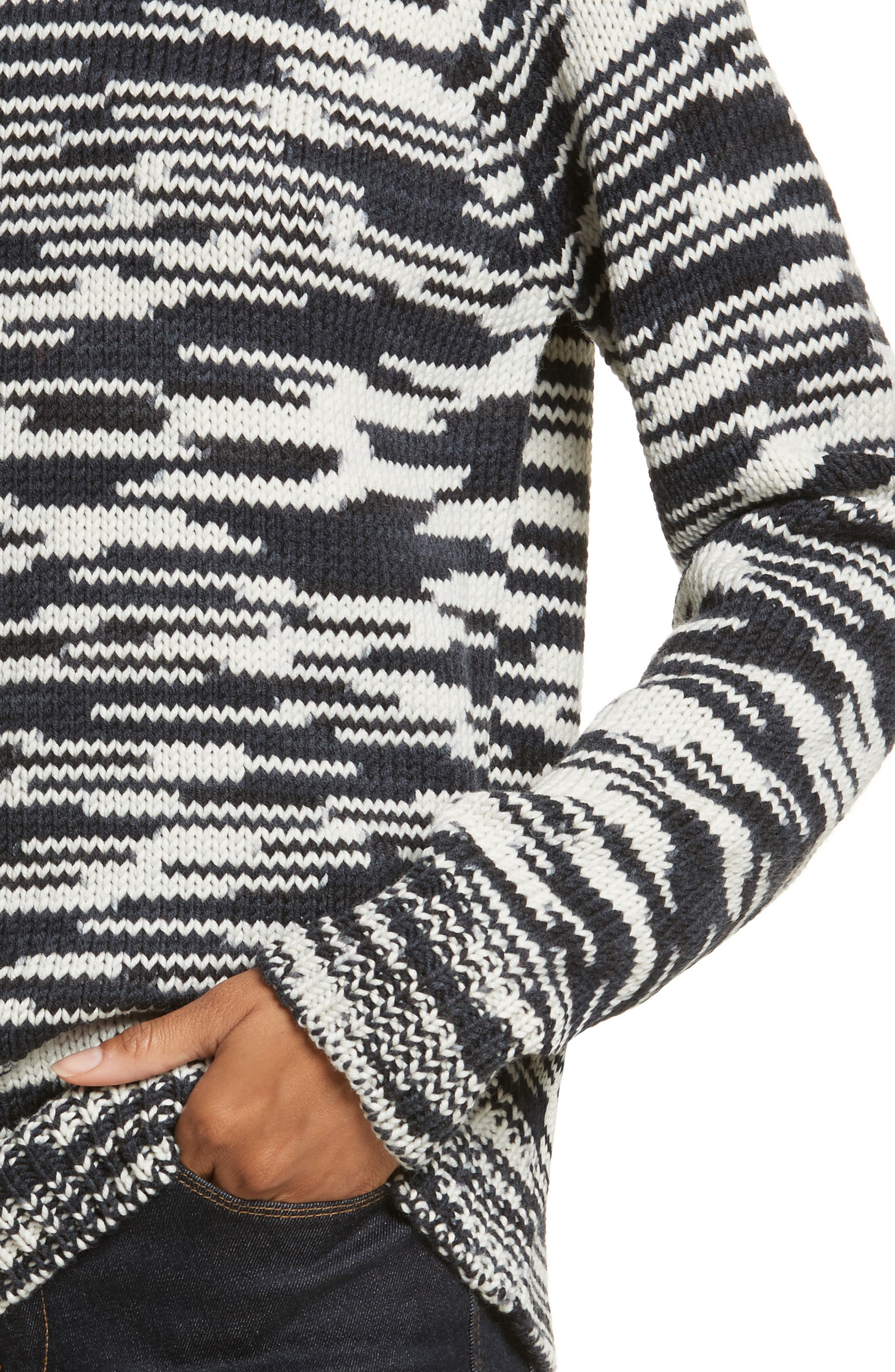 Olivia Merino Wool Sweater,                             Alternate thumbnail 4, color,                             408