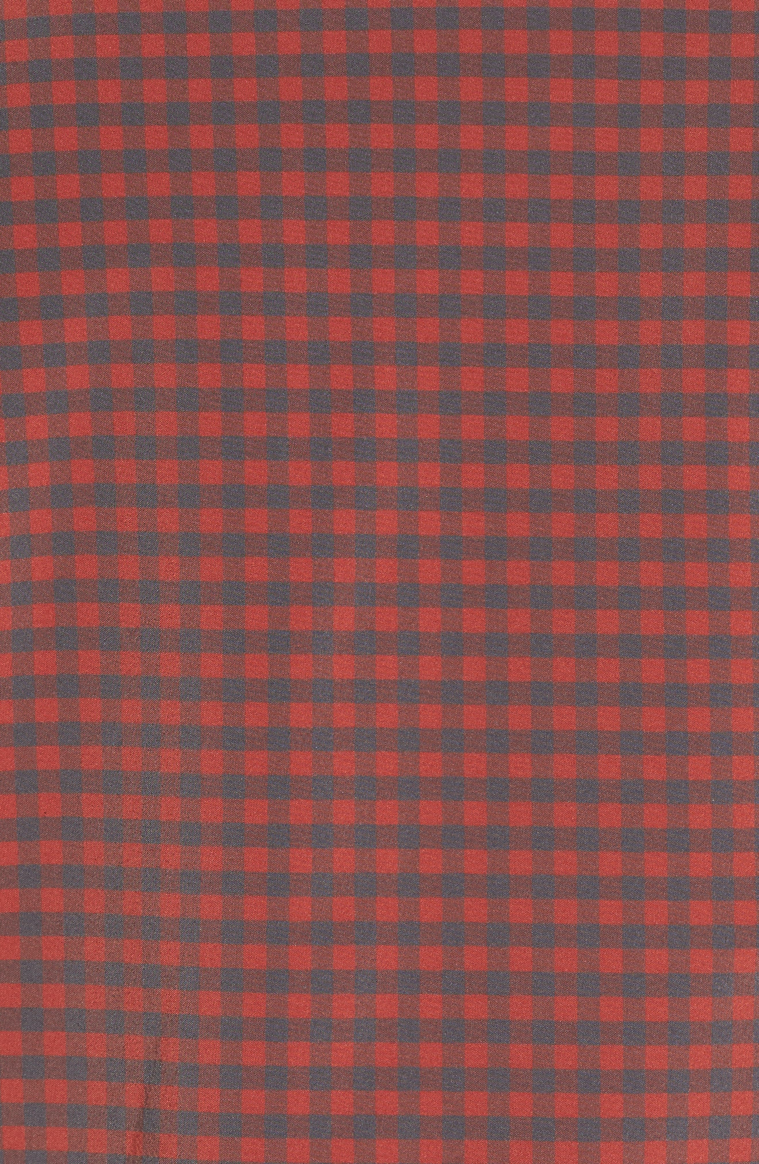 Douglas Grey & Chili Check Sport Shirt,                             Alternate thumbnail 5, color,                             RED
