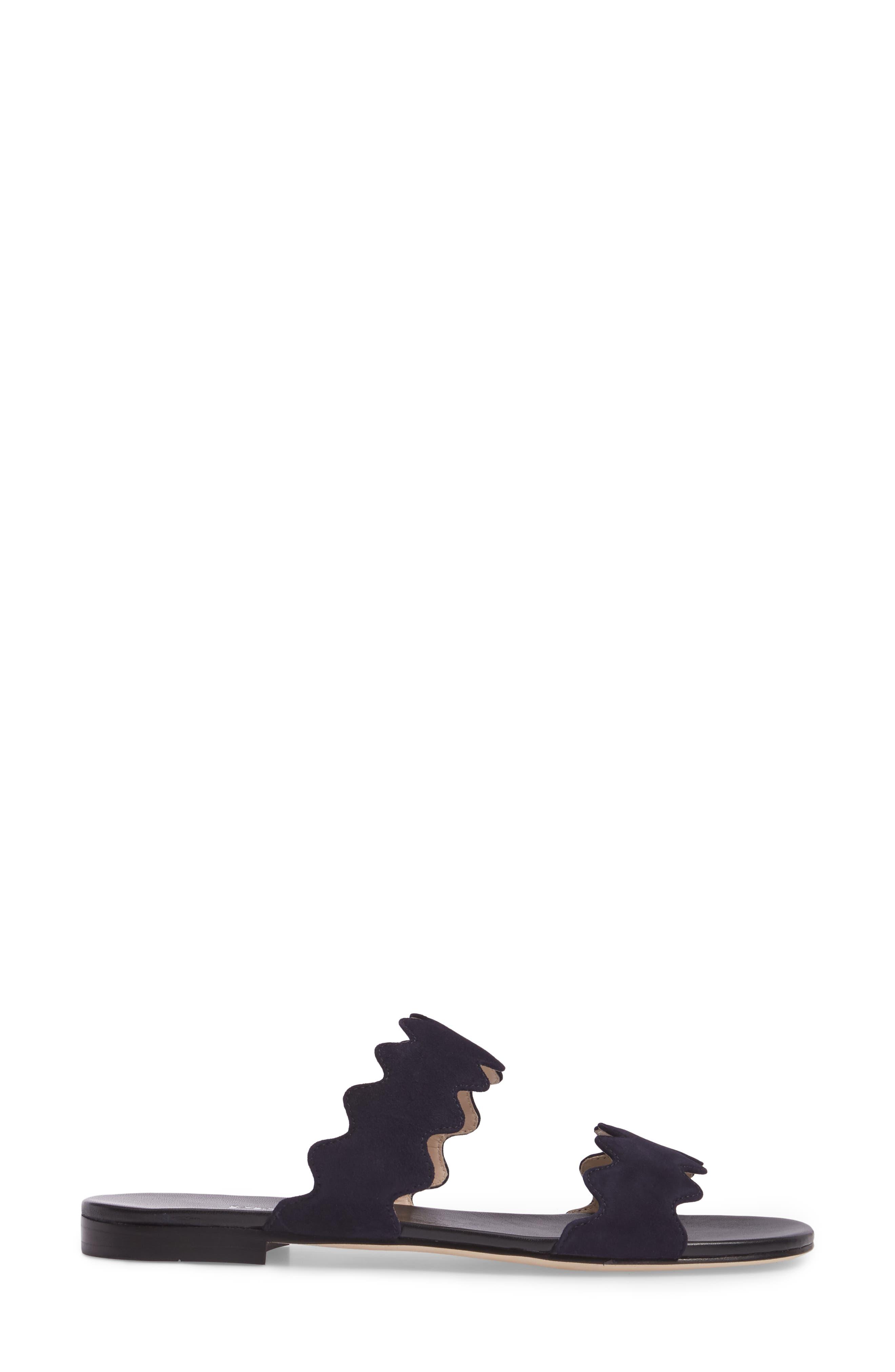 Double Strap Wave Sandal,                             Alternate thumbnail 3, color,                             400