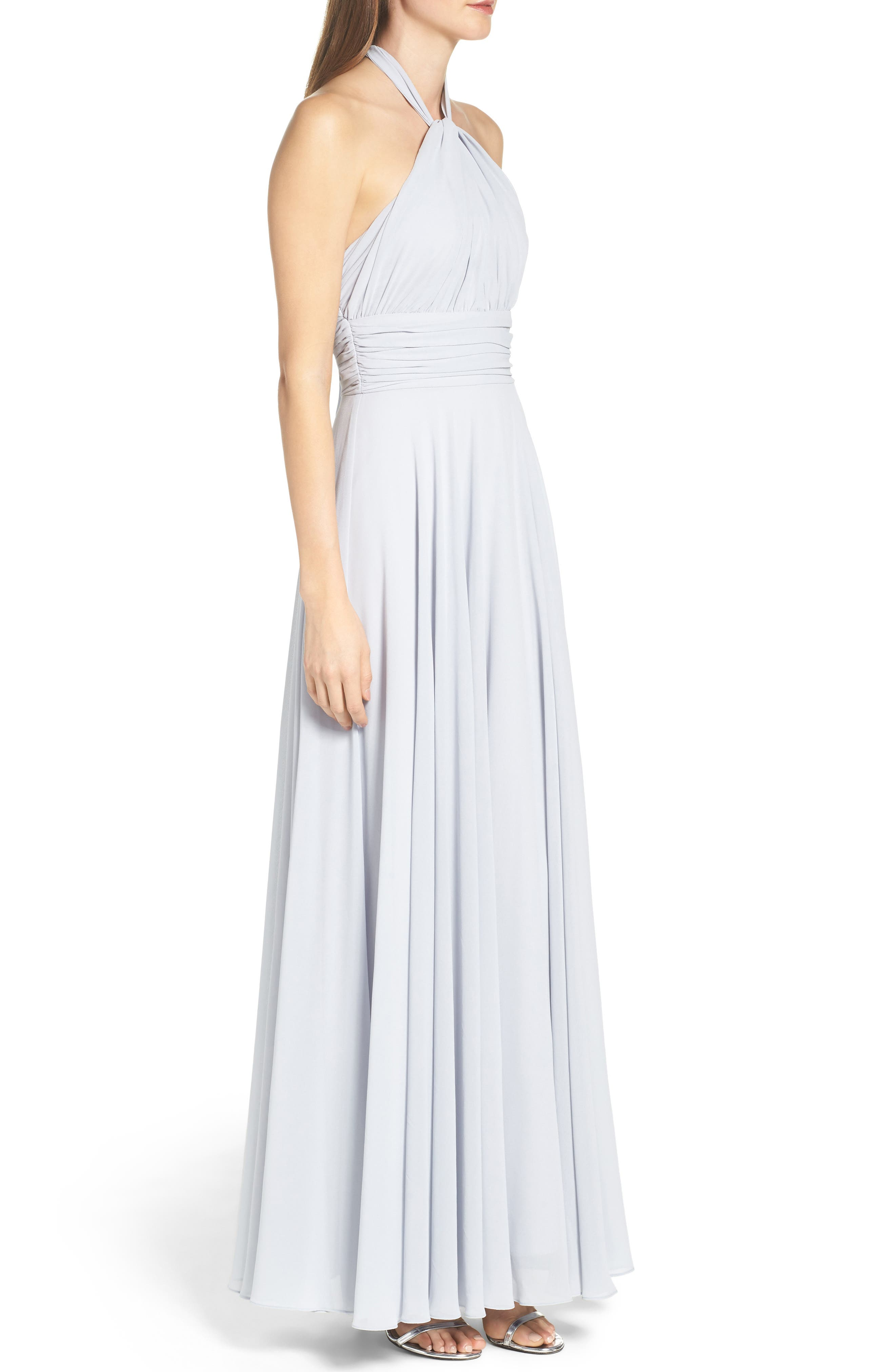 Chiffon Halter Gown,                             Alternate thumbnail 3, color,                             400
