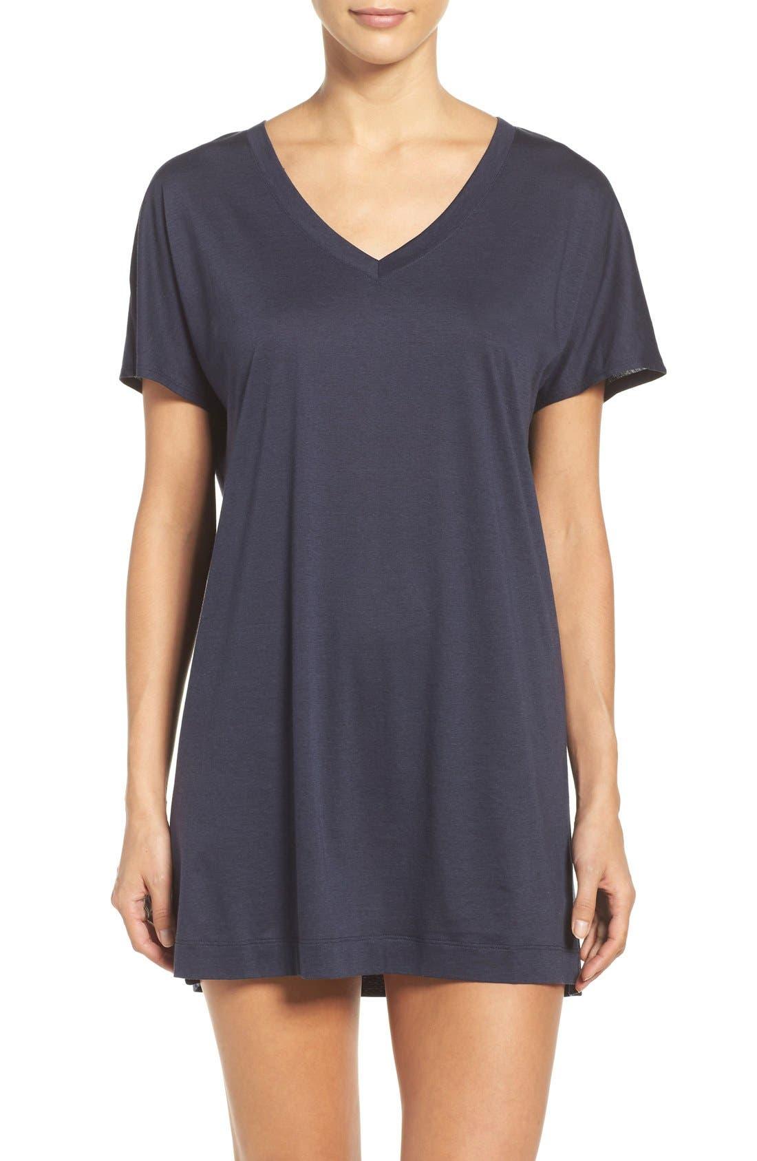 Laura Jersey Sleep Shirt,                             Main thumbnail 3, color,