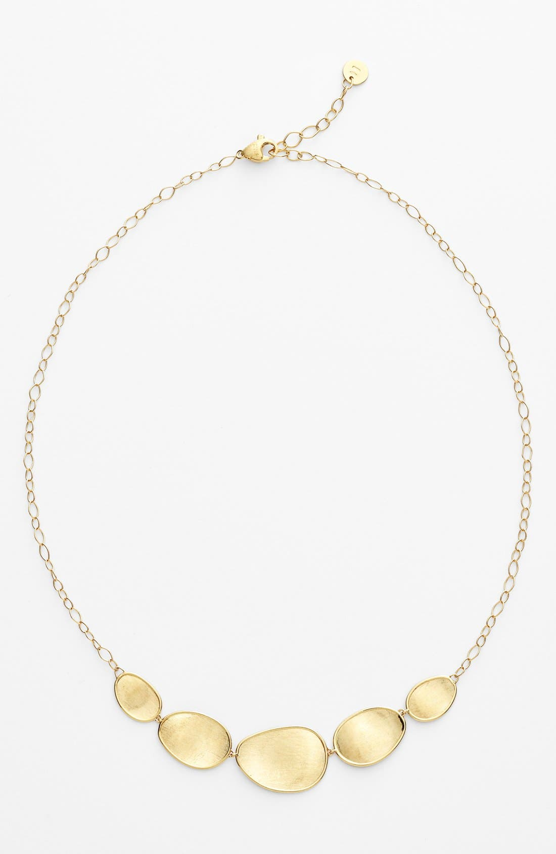 'Lunaria' Frontal Necklace,                             Alternate thumbnail 2, color,                             YELLOW GOLD