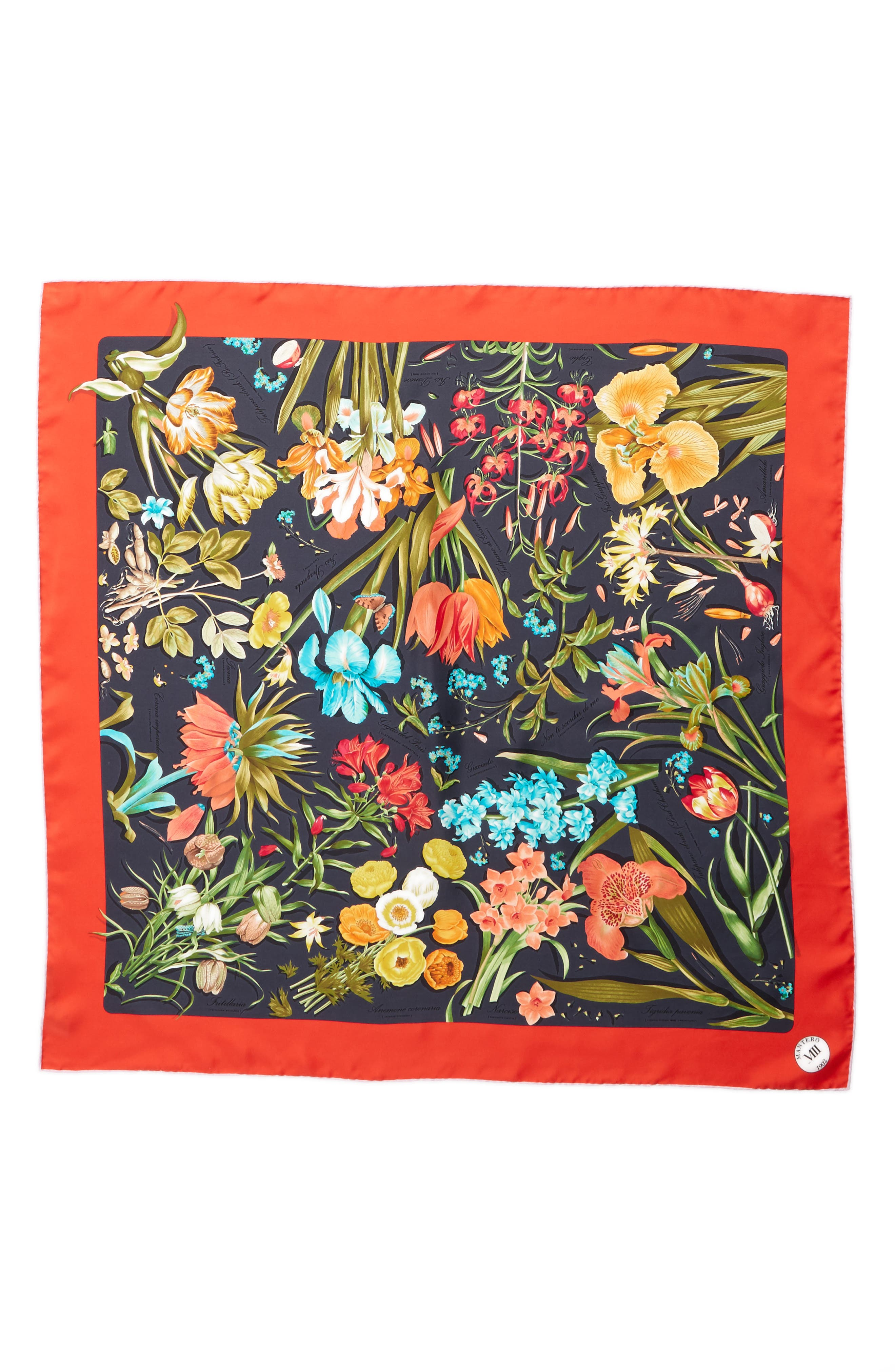 Archivio N.15 Square Silk Scarf,                         Main,                         color, 001