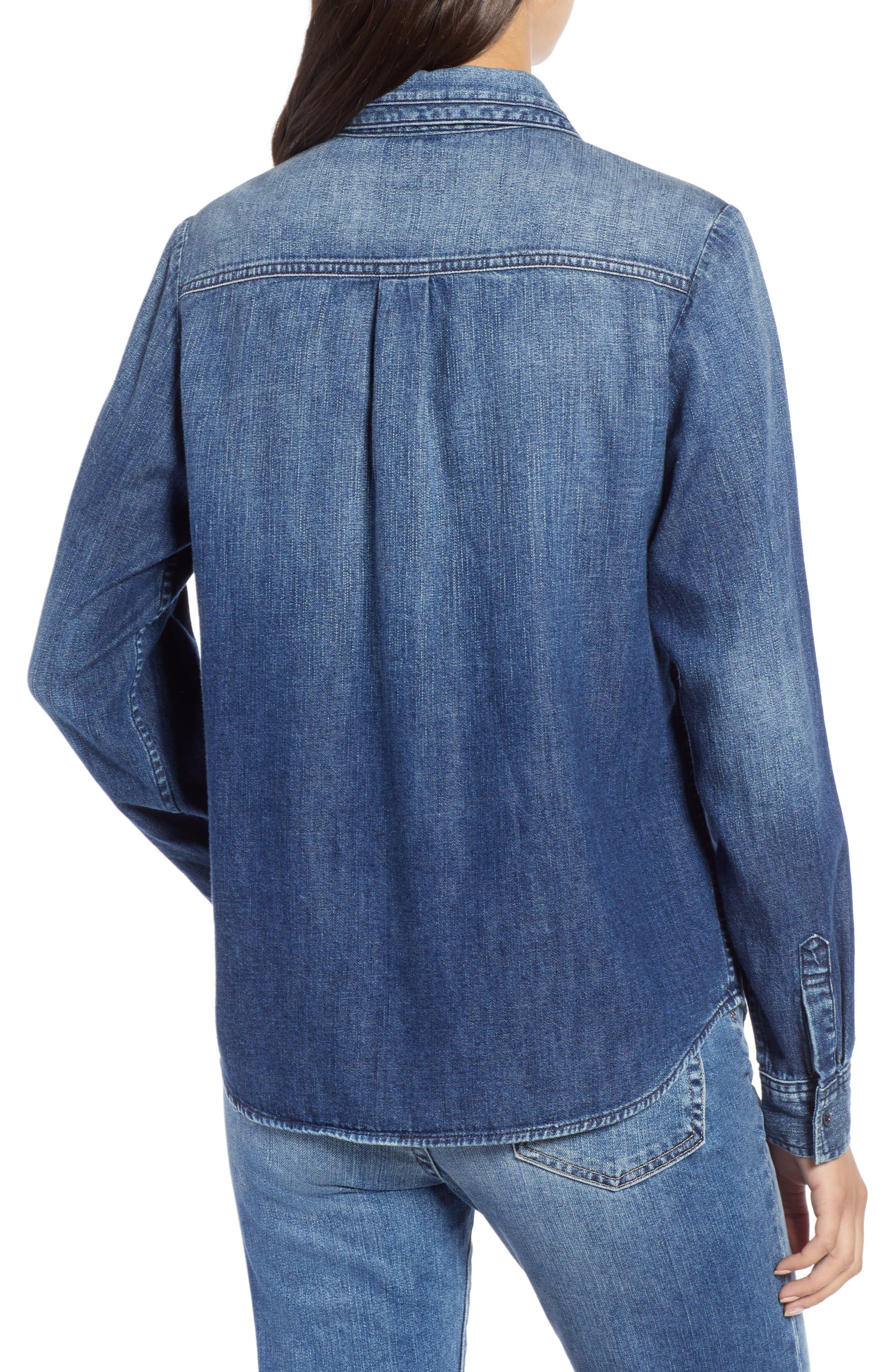 AG,                             Selena Chambray Shirt,                             Alternate thumbnail 2, color,                             283