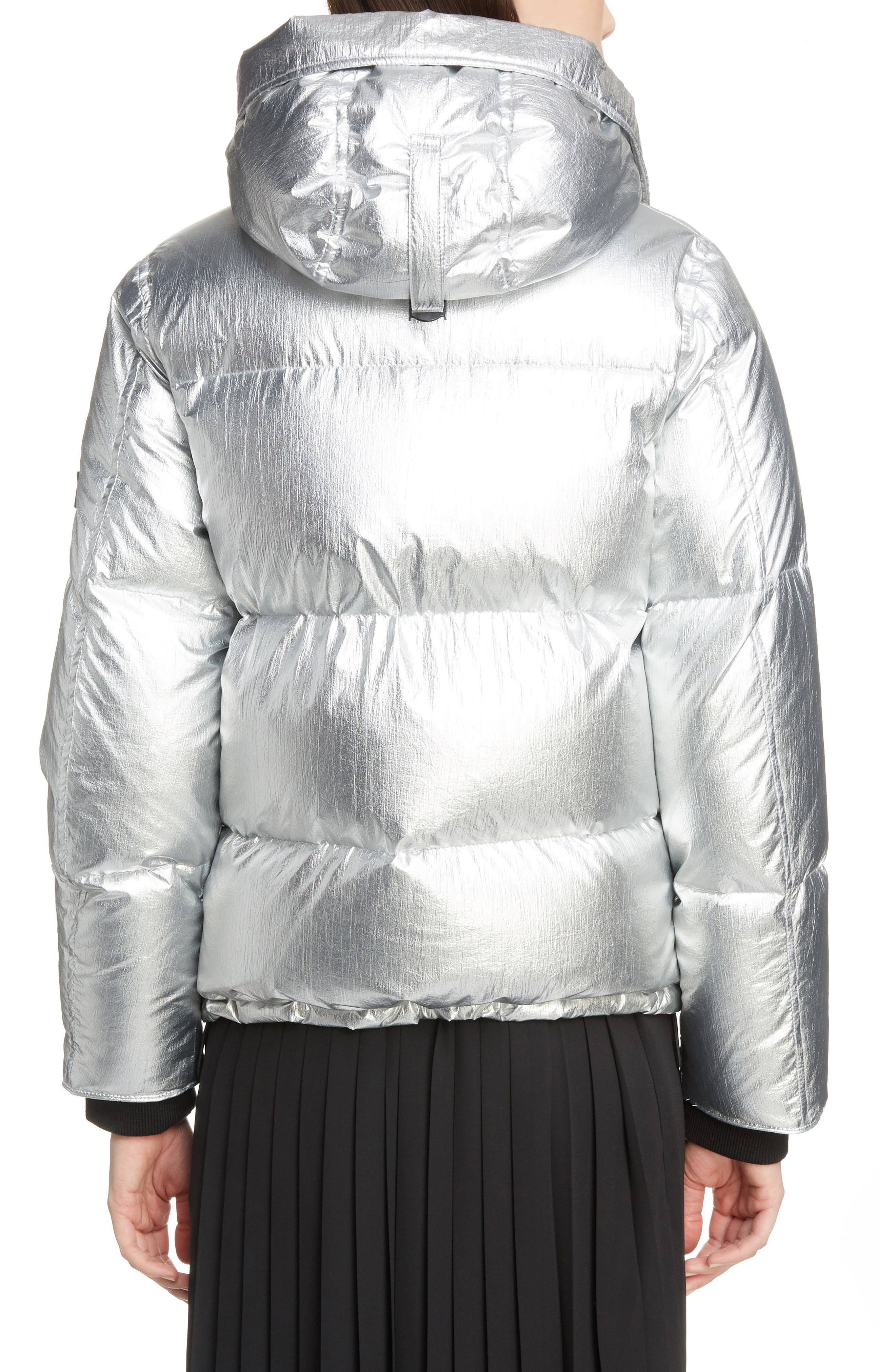 Metallic Down Puffer Coat,                             Alternate thumbnail 2, color,                             040