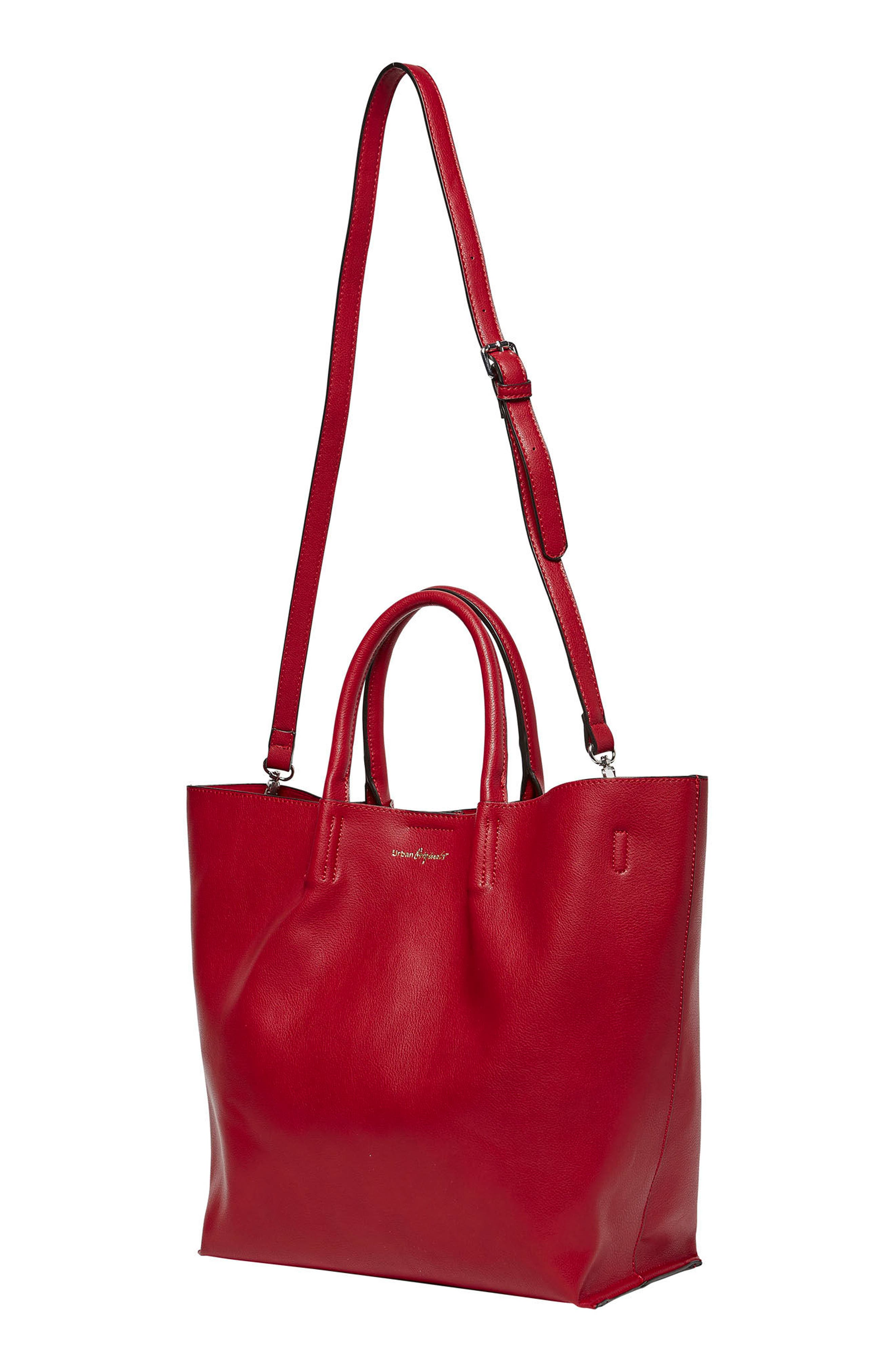 Butterfly Vegan Leather Tote,                             Alternate thumbnail 6, color,