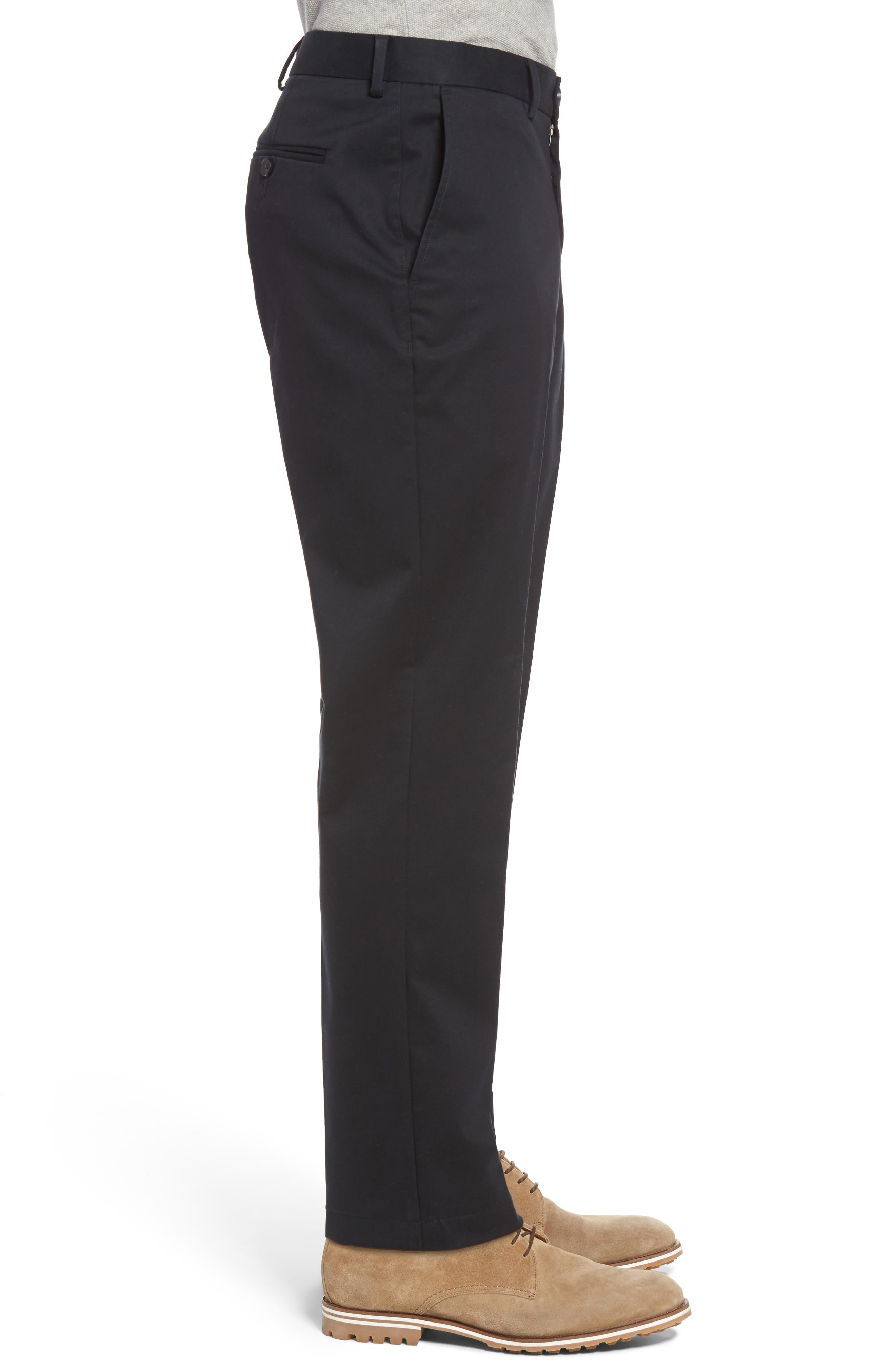 Nordstrom Men's Shop Georgetown Chinos,                             Alternate thumbnail 3, color,                             001