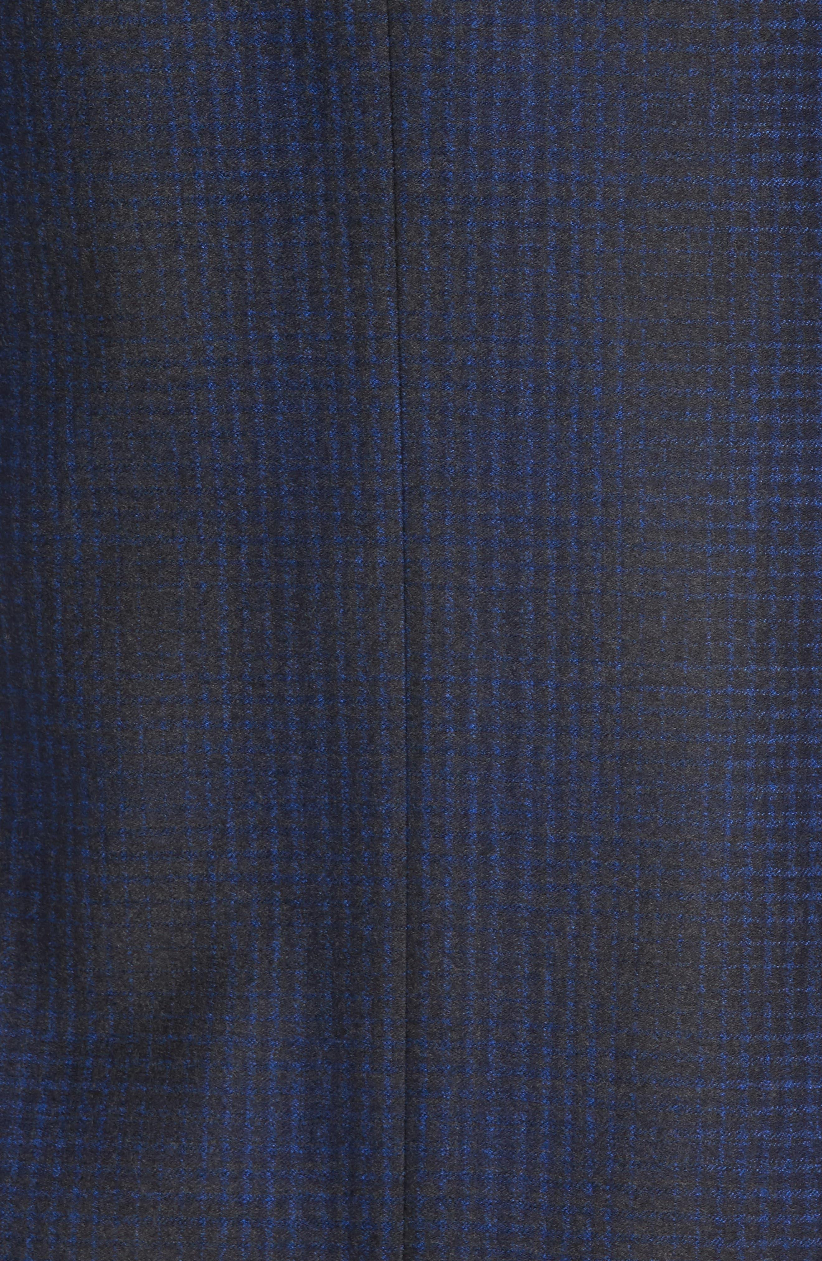 Trim Fit Plaid Wool Sport Coat,                             Alternate thumbnail 6, color,                             010