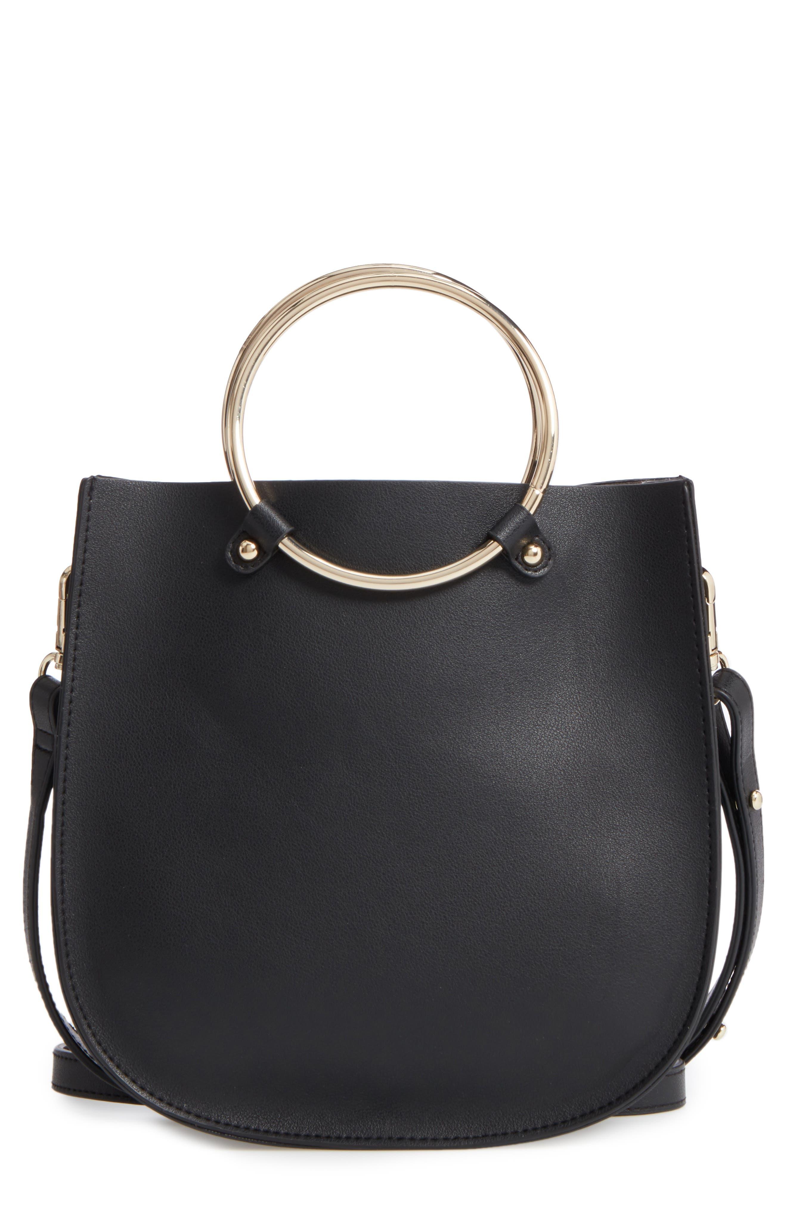Metal Ring Crossbody Bag,                         Main,                         color, 001