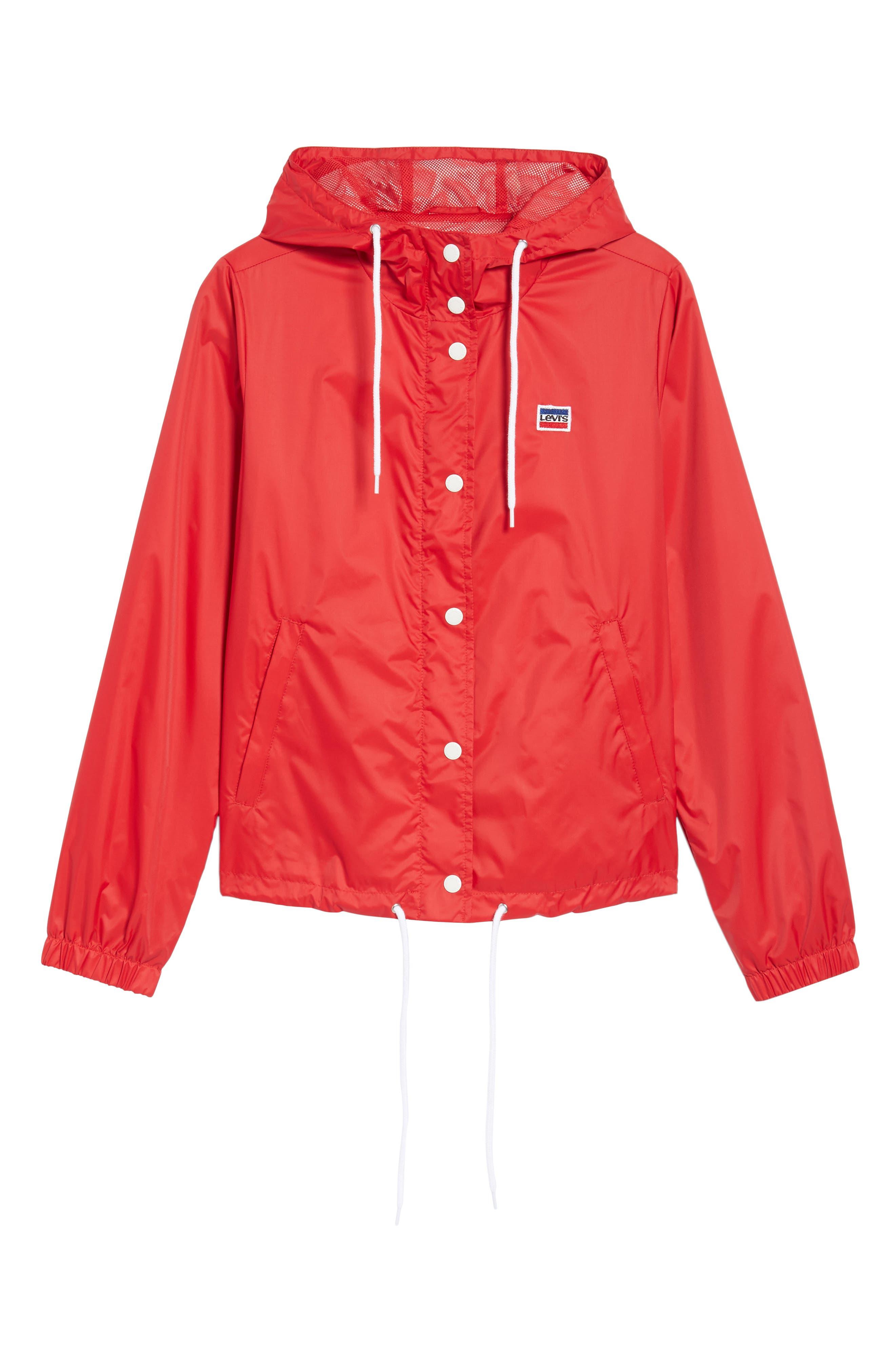 Retro Hooded Coach's Jacket,                             Alternate thumbnail 25, color,