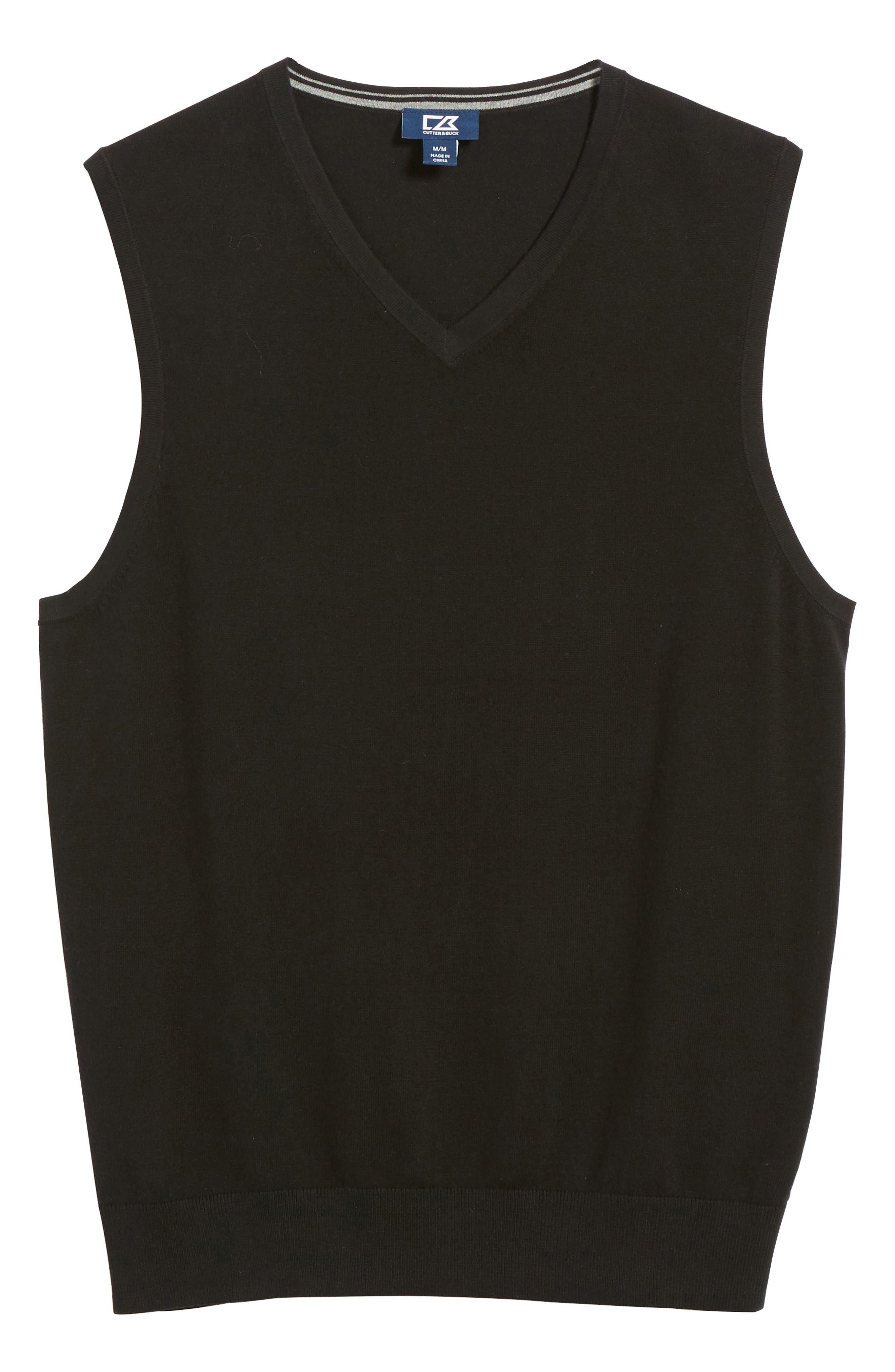 Lakemont V-Neck Sweater Vest,                             Alternate thumbnail 6, color,                             BLACK