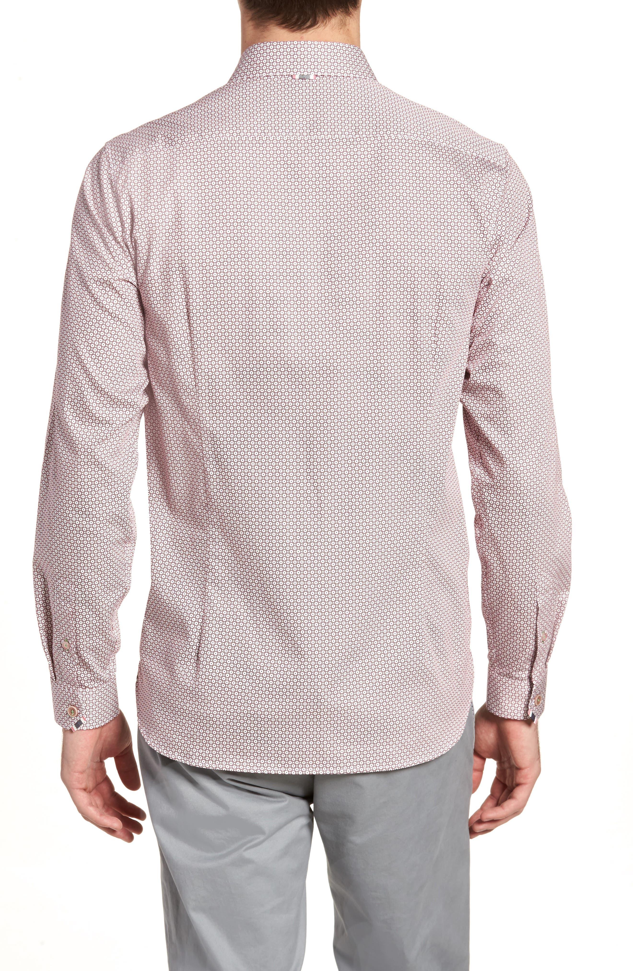 Holic Trim Fit Geometric Sport Shirt,                             Alternate thumbnail 4, color,