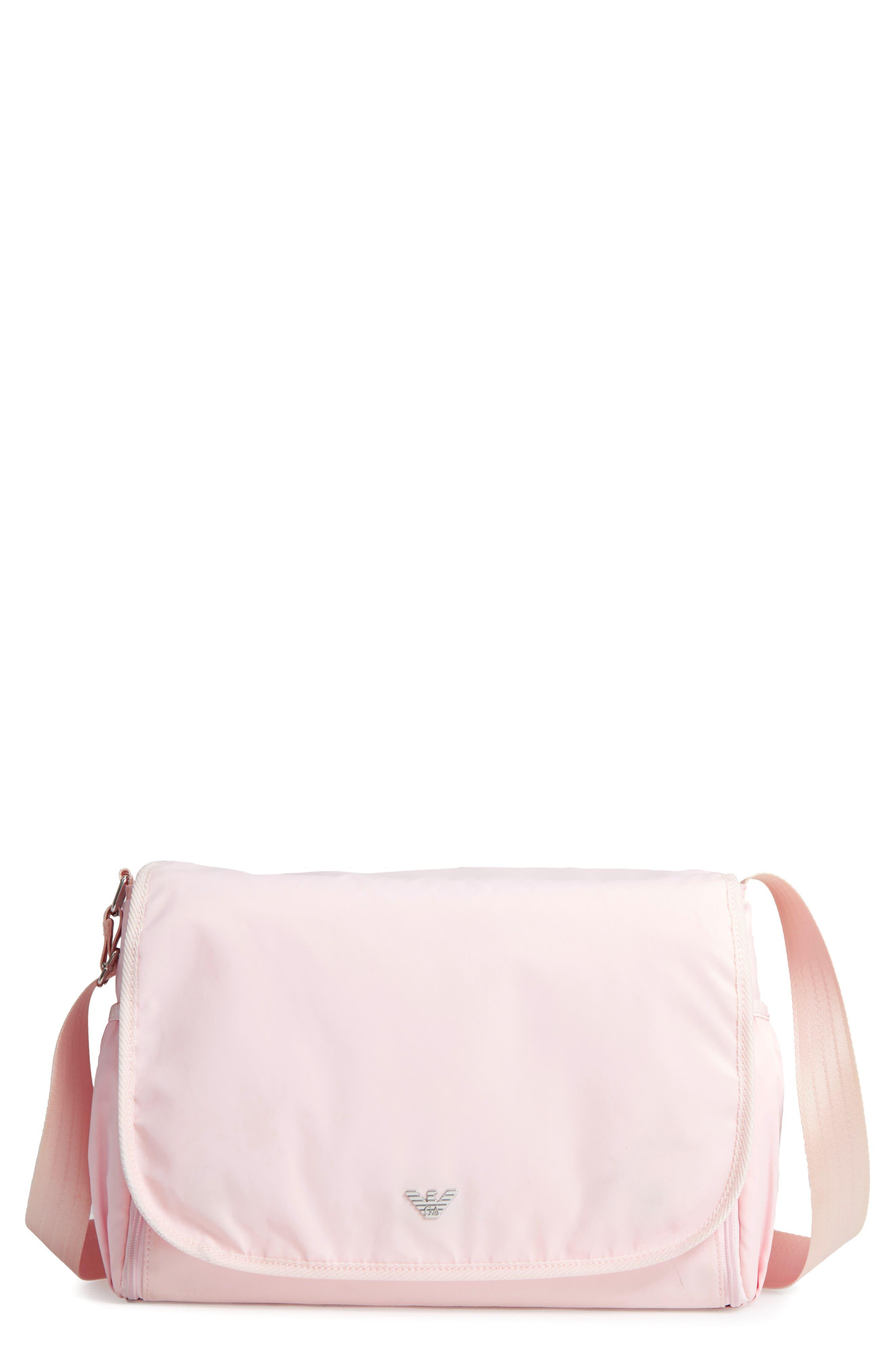 Nylon Messenger Diaper Bag,                             Main thumbnail 4, color,