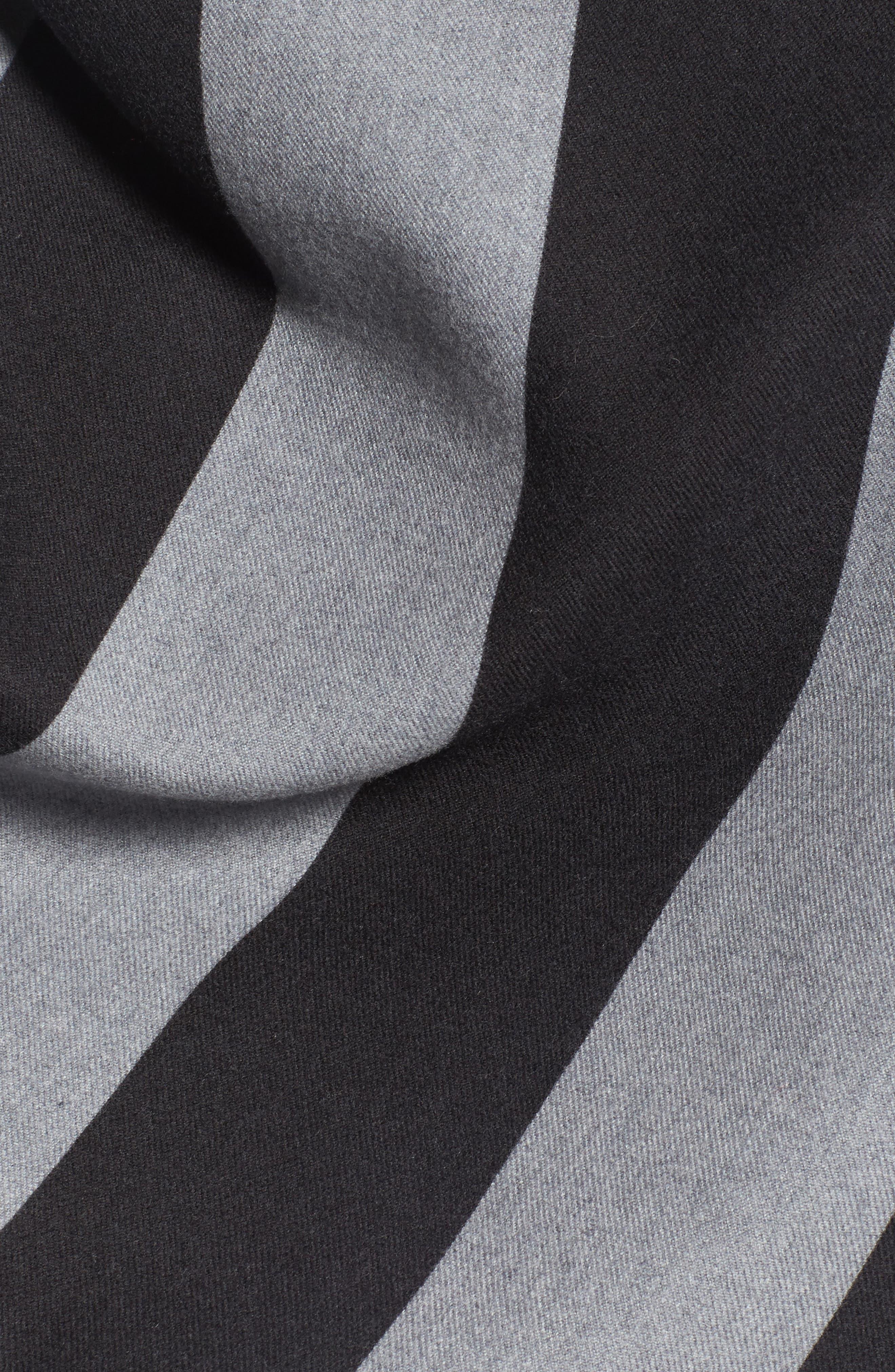Stripe Merino Wool Poncho,                             Alternate thumbnail 5, color,                             020