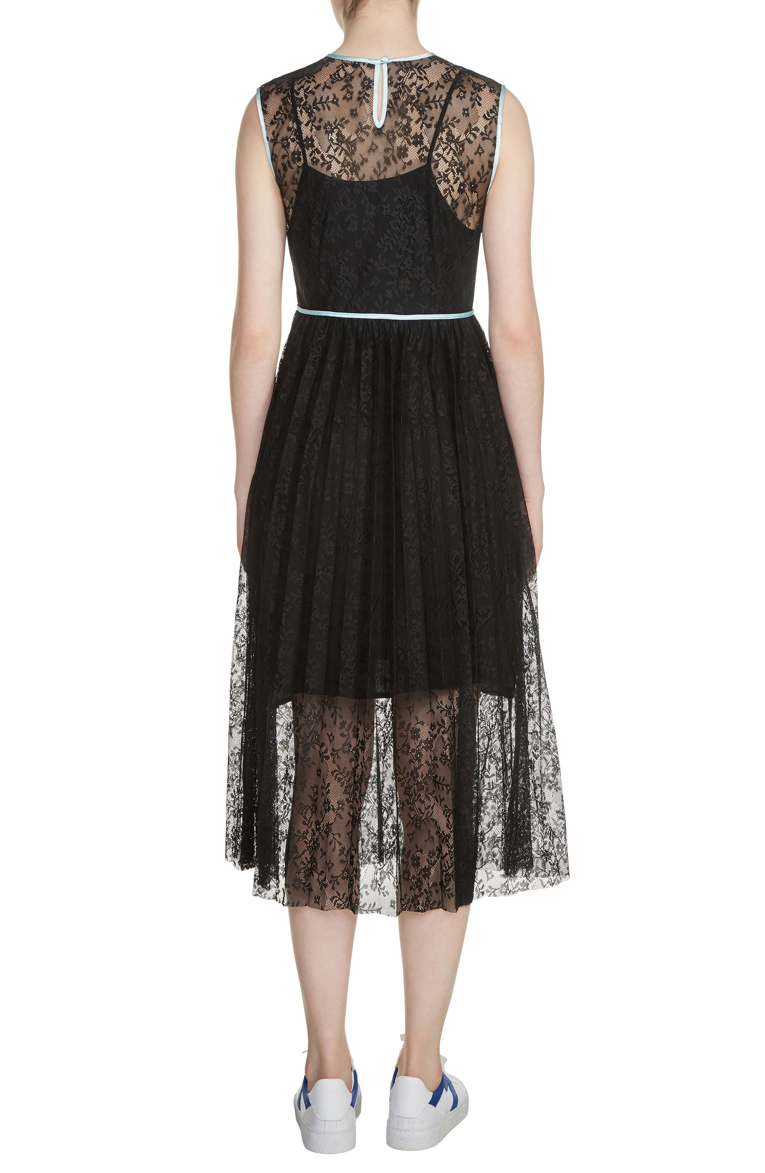 Rabila Lace Midi Dress,                             Alternate thumbnail 2, color,                             001