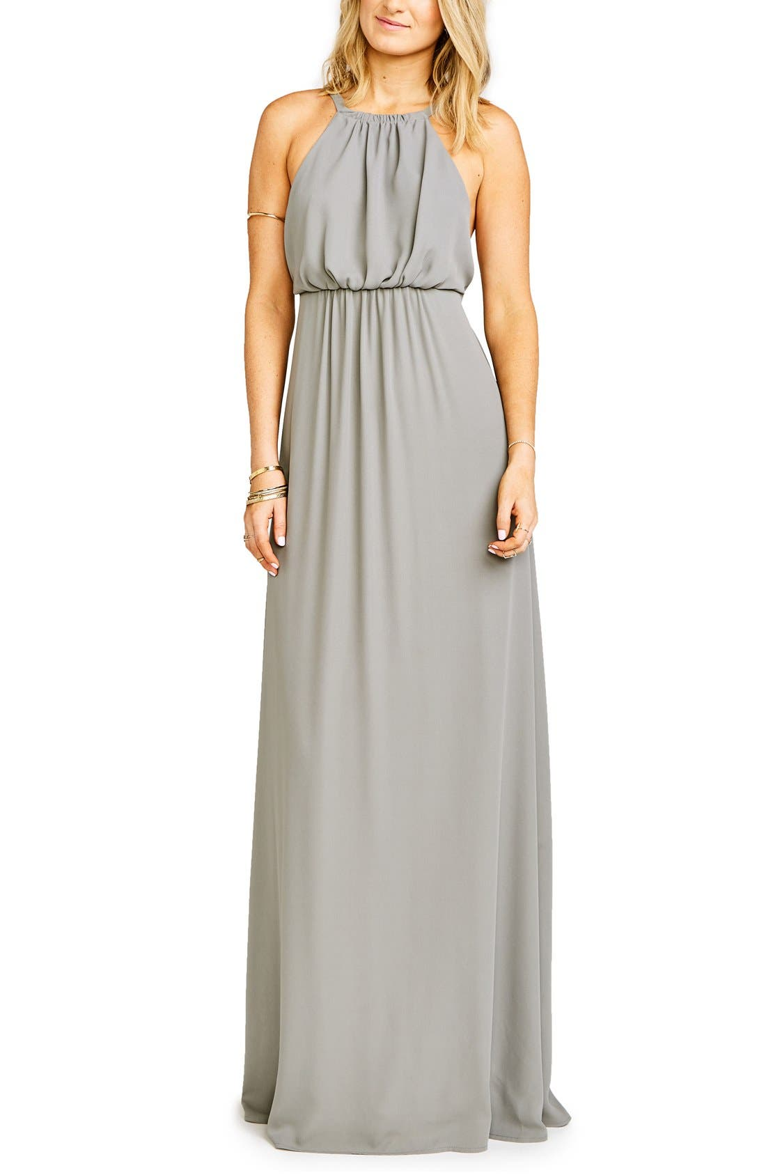 Amanda Open Back Blouson Gown,                             Main thumbnail 2, color,