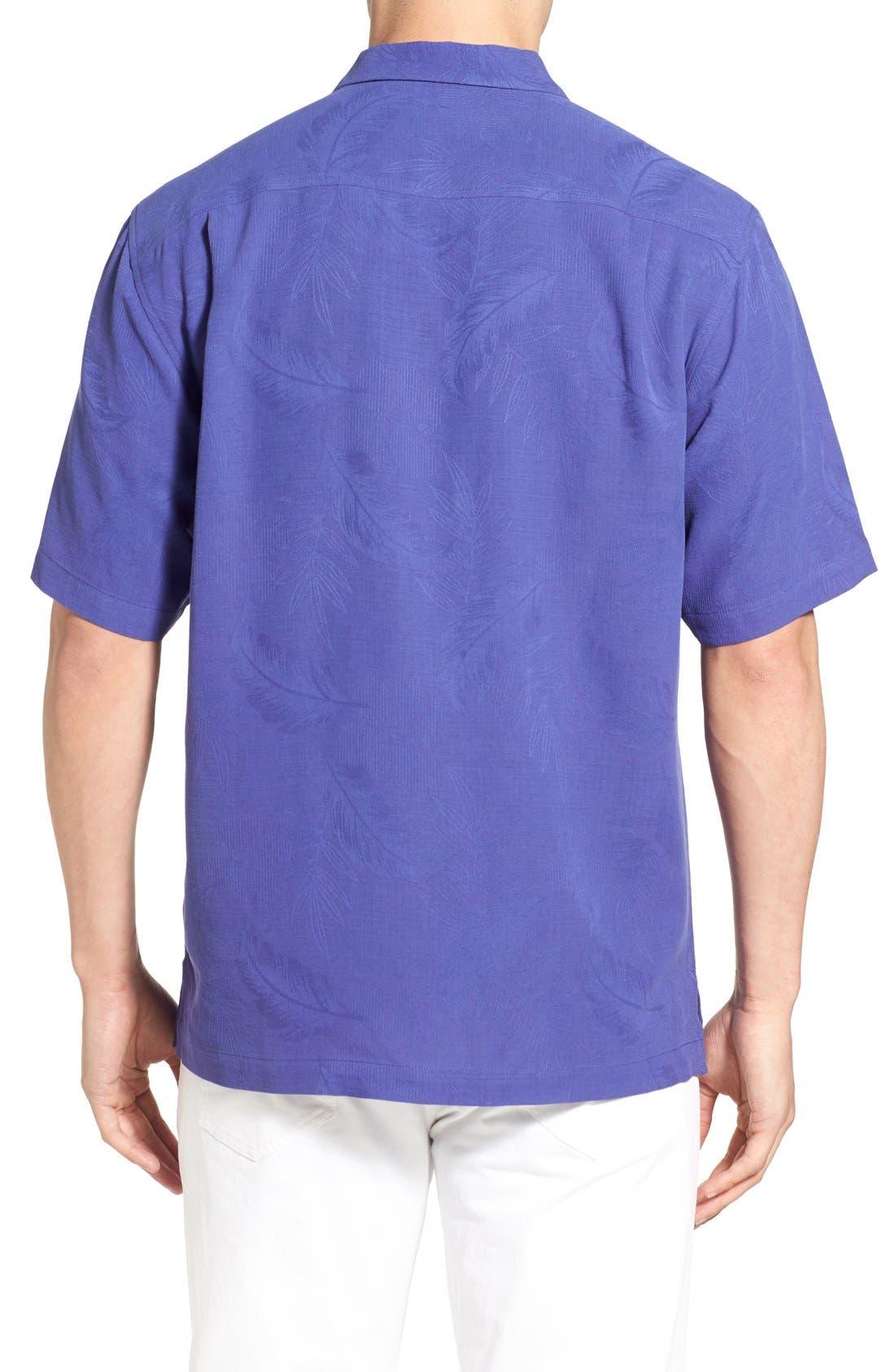 Rio Fronds Short Sleeve Silk Sport Shirt,                             Alternate thumbnail 29, color,