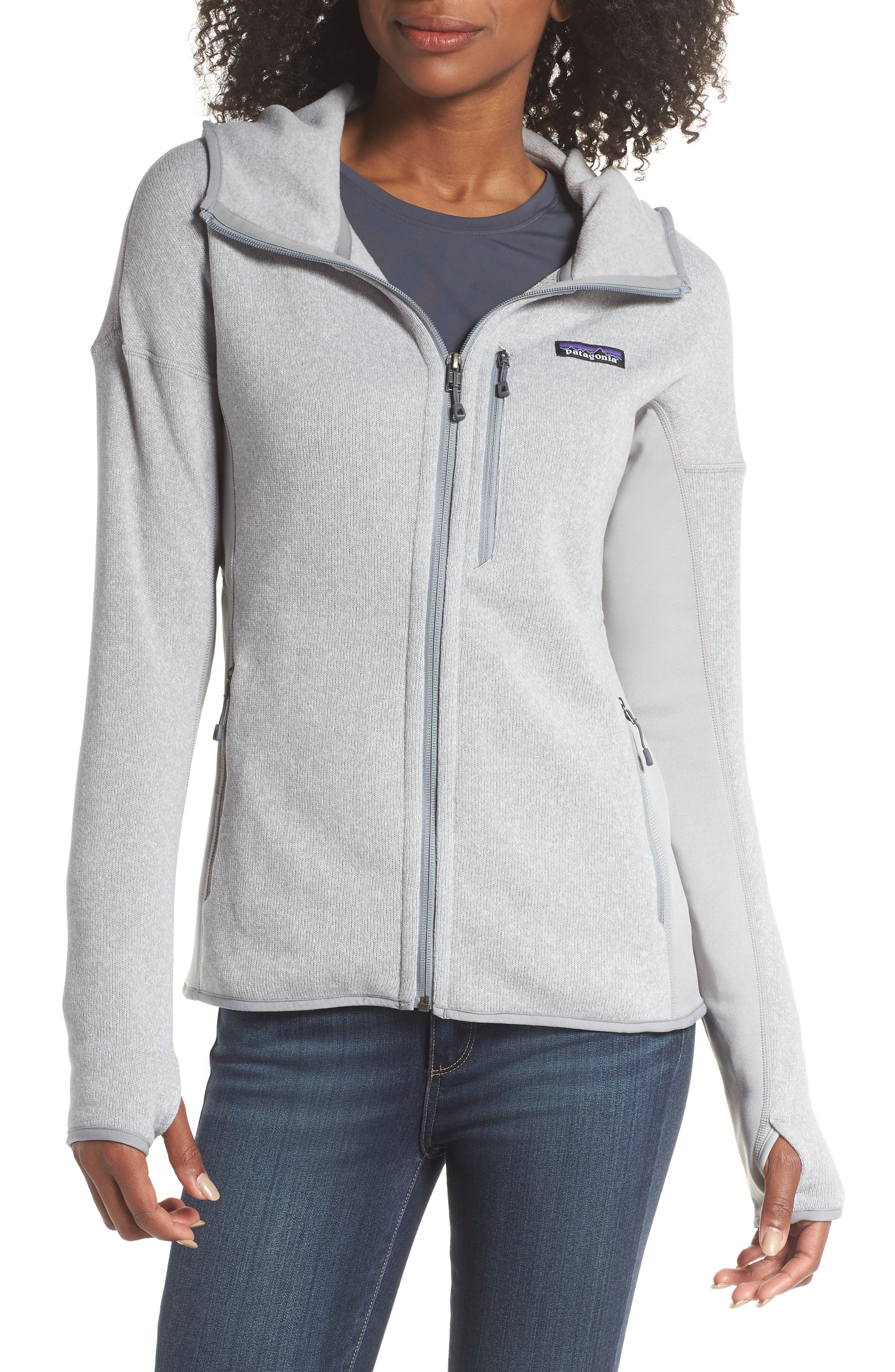 Performance Better Sweater Hoodie,                             Main thumbnail 1, color,                             DRIFT GREY
