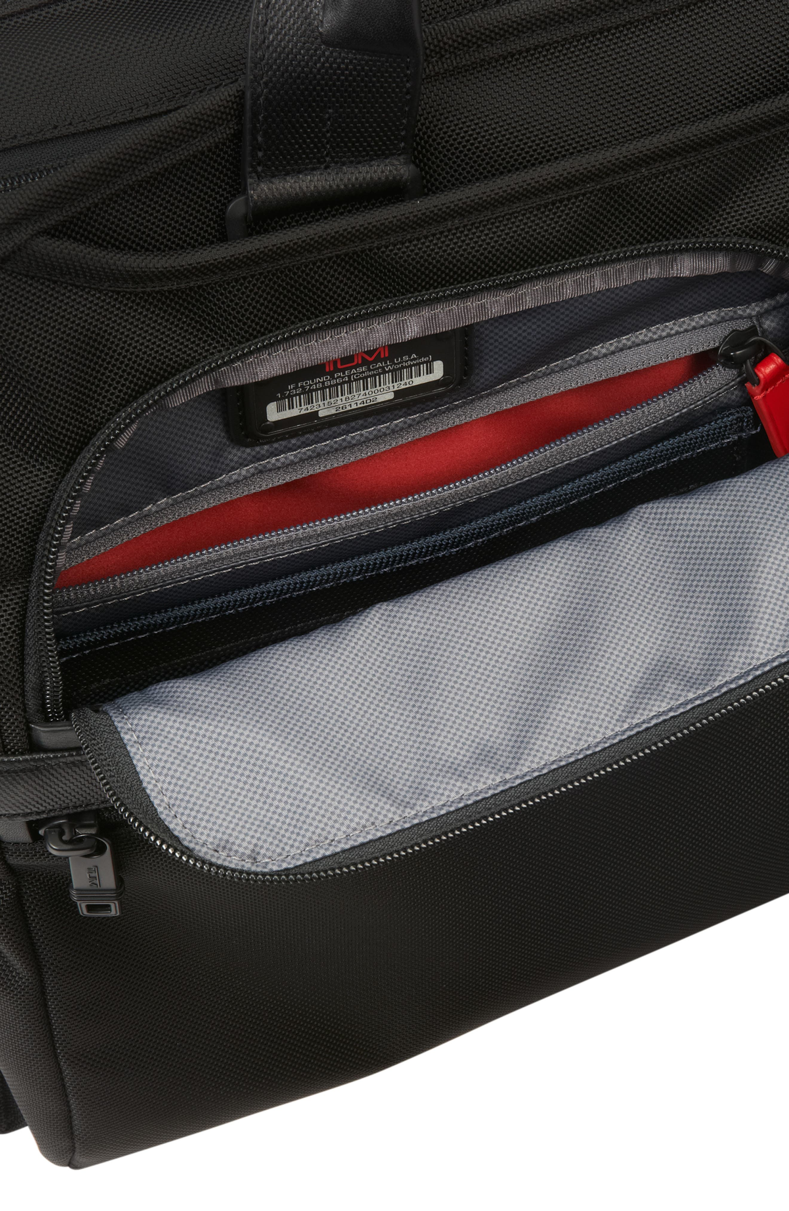 Alpha 2 Laptop Briefcase with Tumi ID Lock Pocket,                             Alternate thumbnail 5, color,                             BLACK