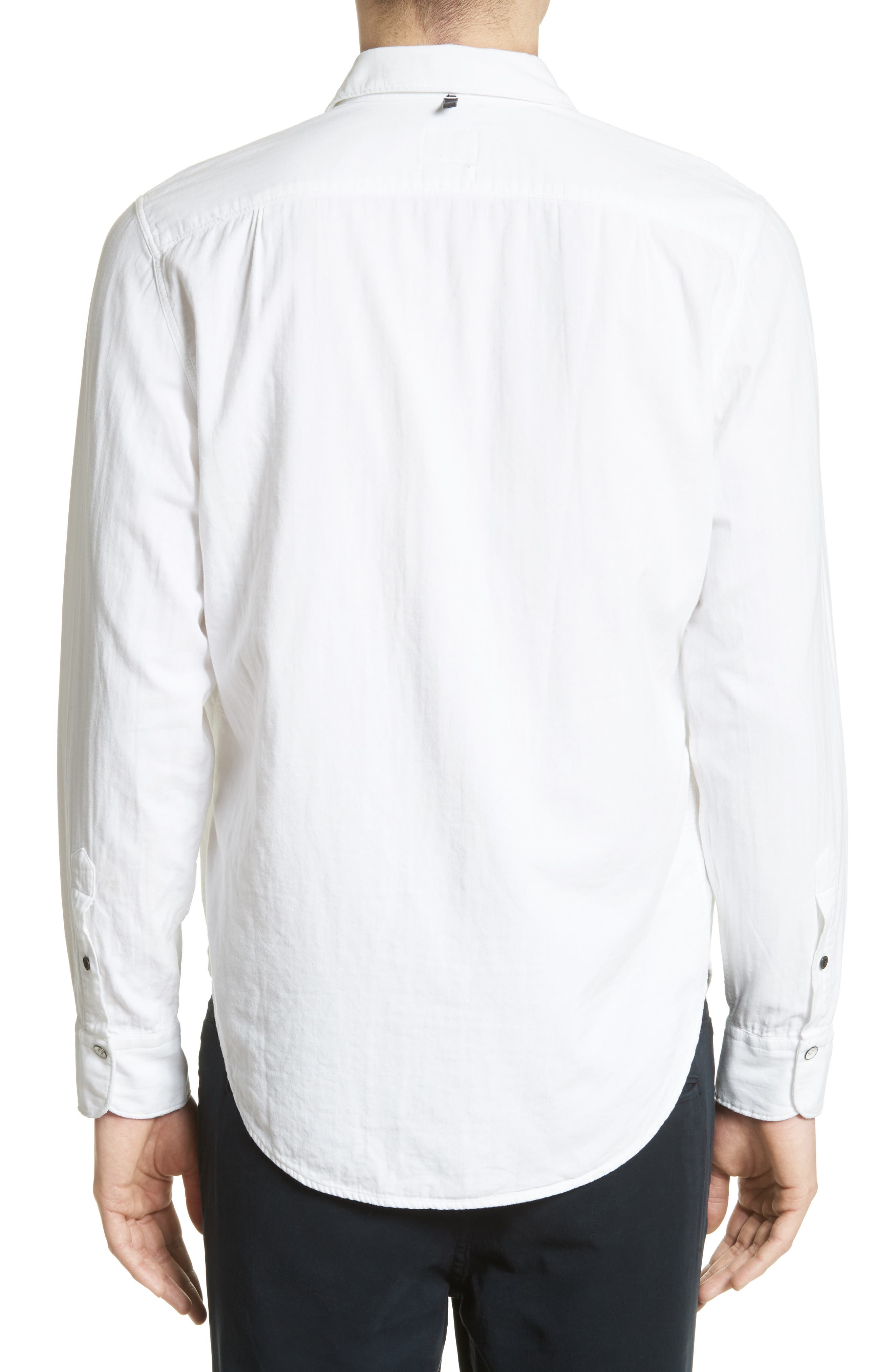 Standard Issue Solid Sport Shirt,                             Alternate thumbnail 3, color,                             WHITE