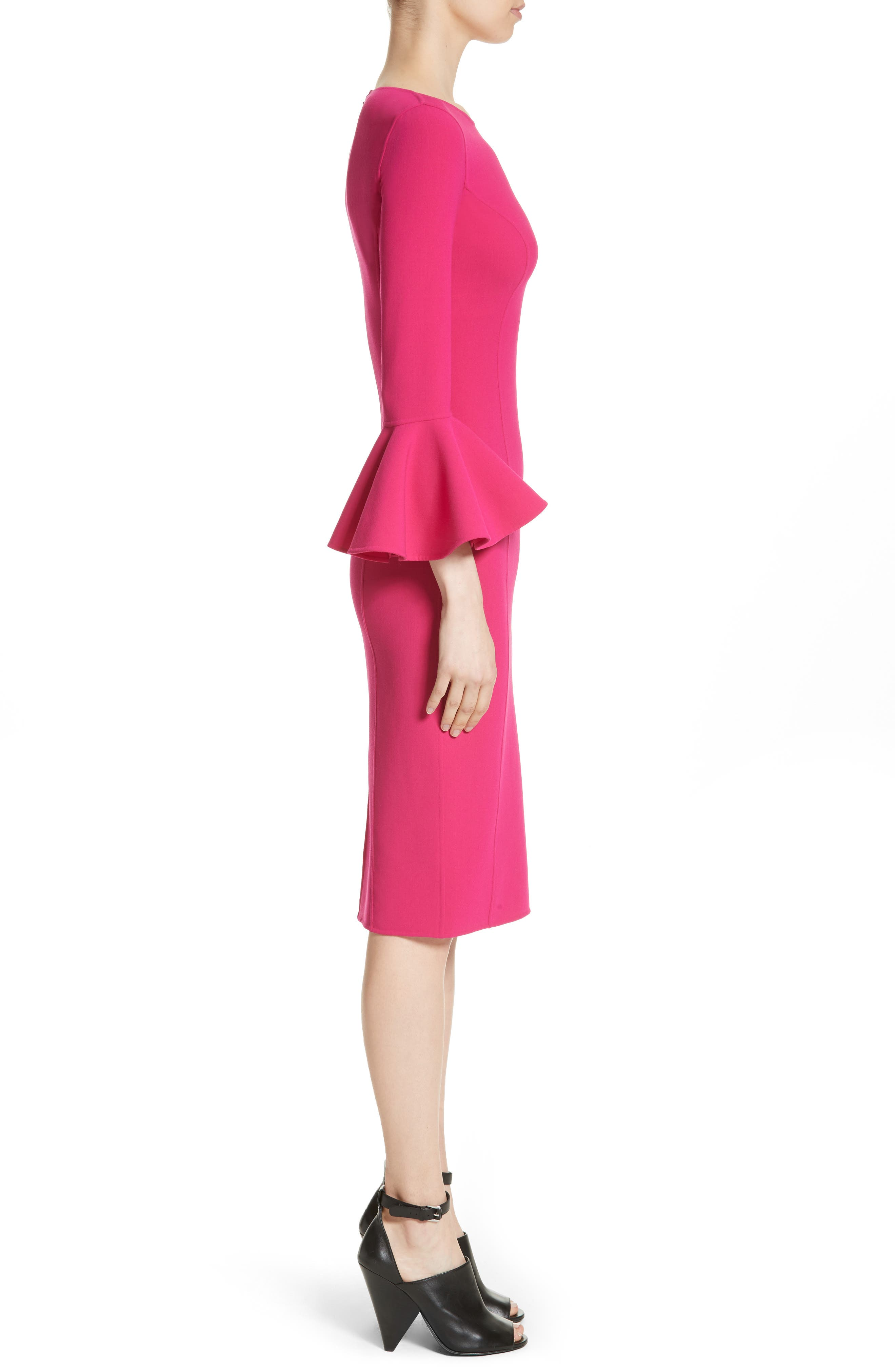 Bell Cuff Sheath Dress,                             Alternate thumbnail 6, color,