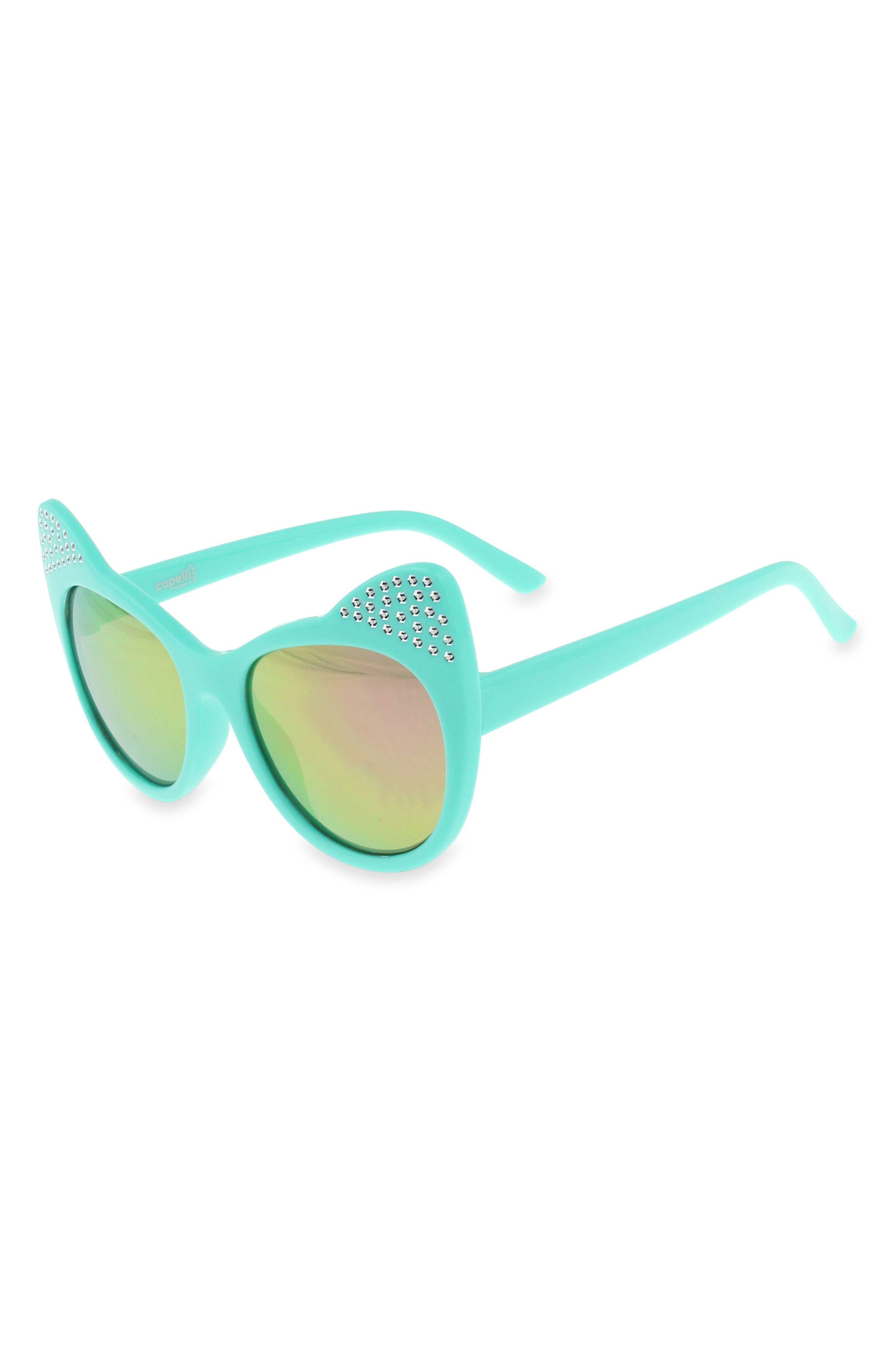 60mm Crystal Cat Ear Sunglasses,                         Main,                         color, 338