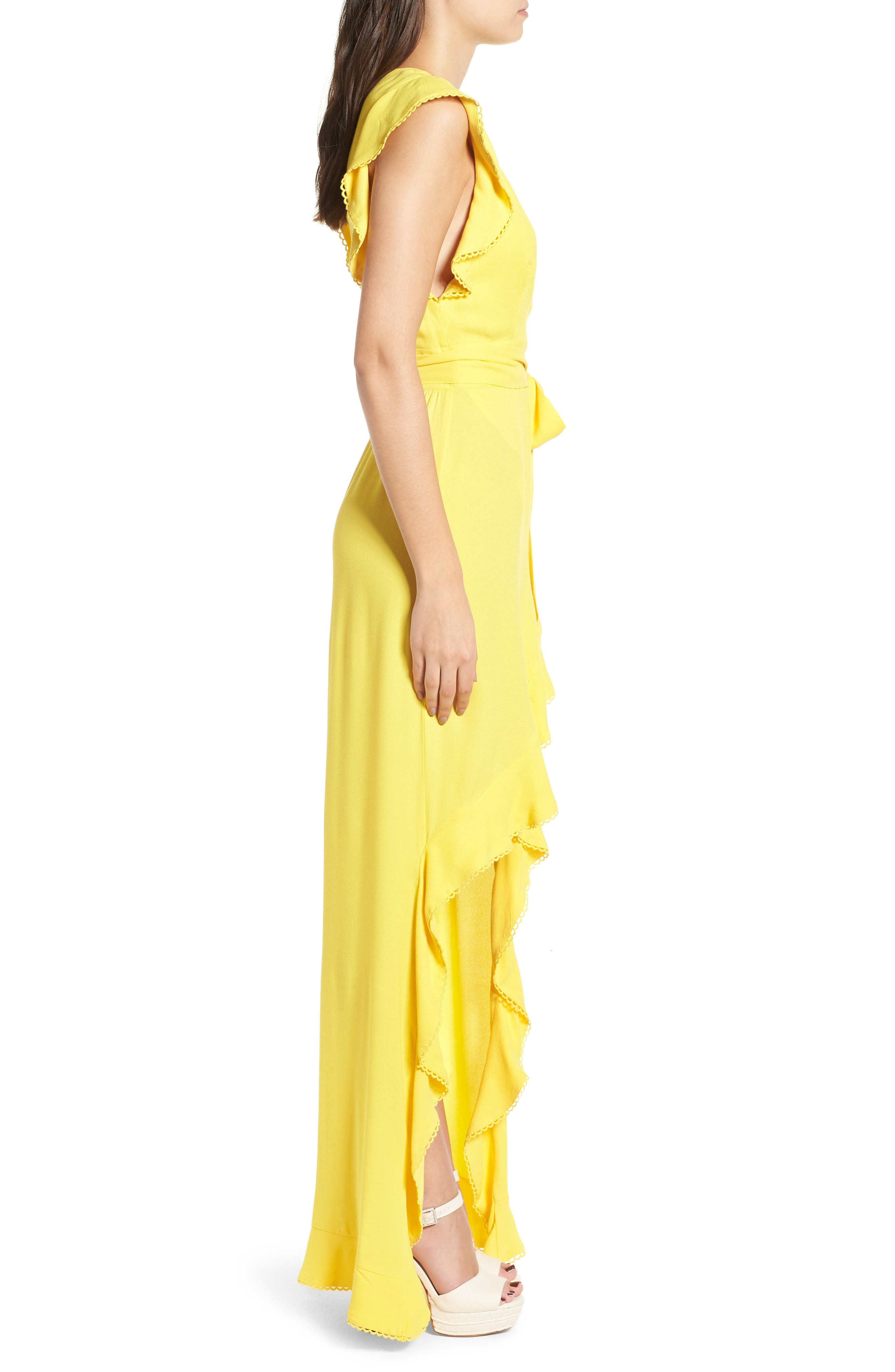 Andrea Ruffle Wrap Dress,                             Alternate thumbnail 10, color,