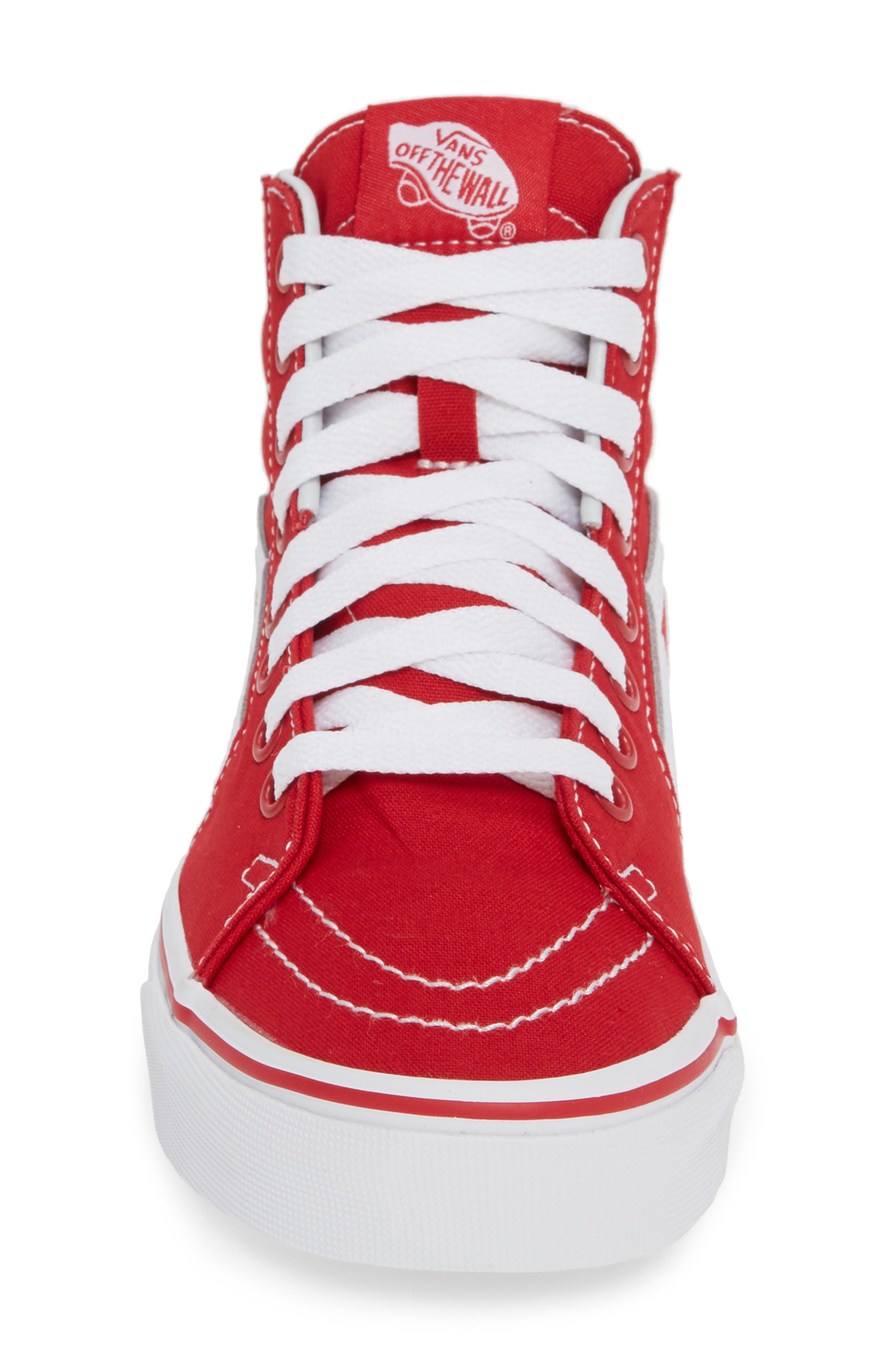 'Sk8-Hi' Sneaker,                             Alternate thumbnail 4, color,                             CANVAS FORMULA ONE