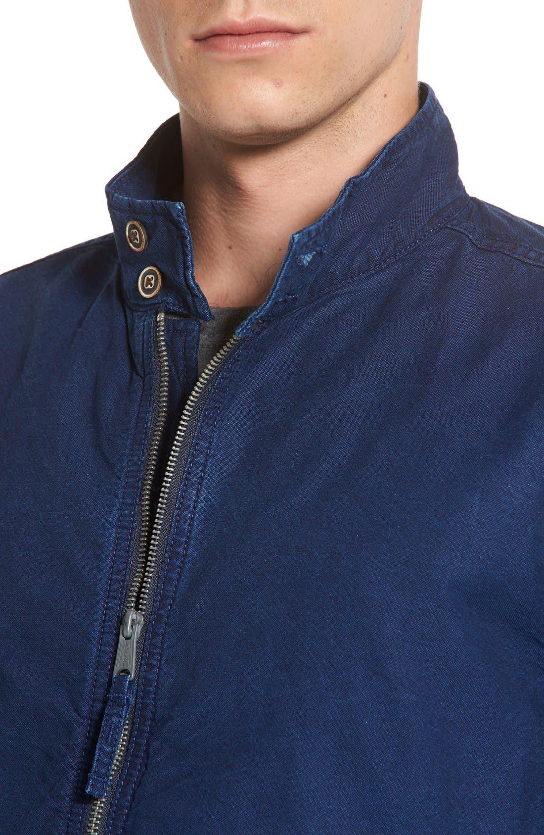 LUCKY BRAND,                             Denim Harrington Jacket,                             Alternate thumbnail 4, color,                             410