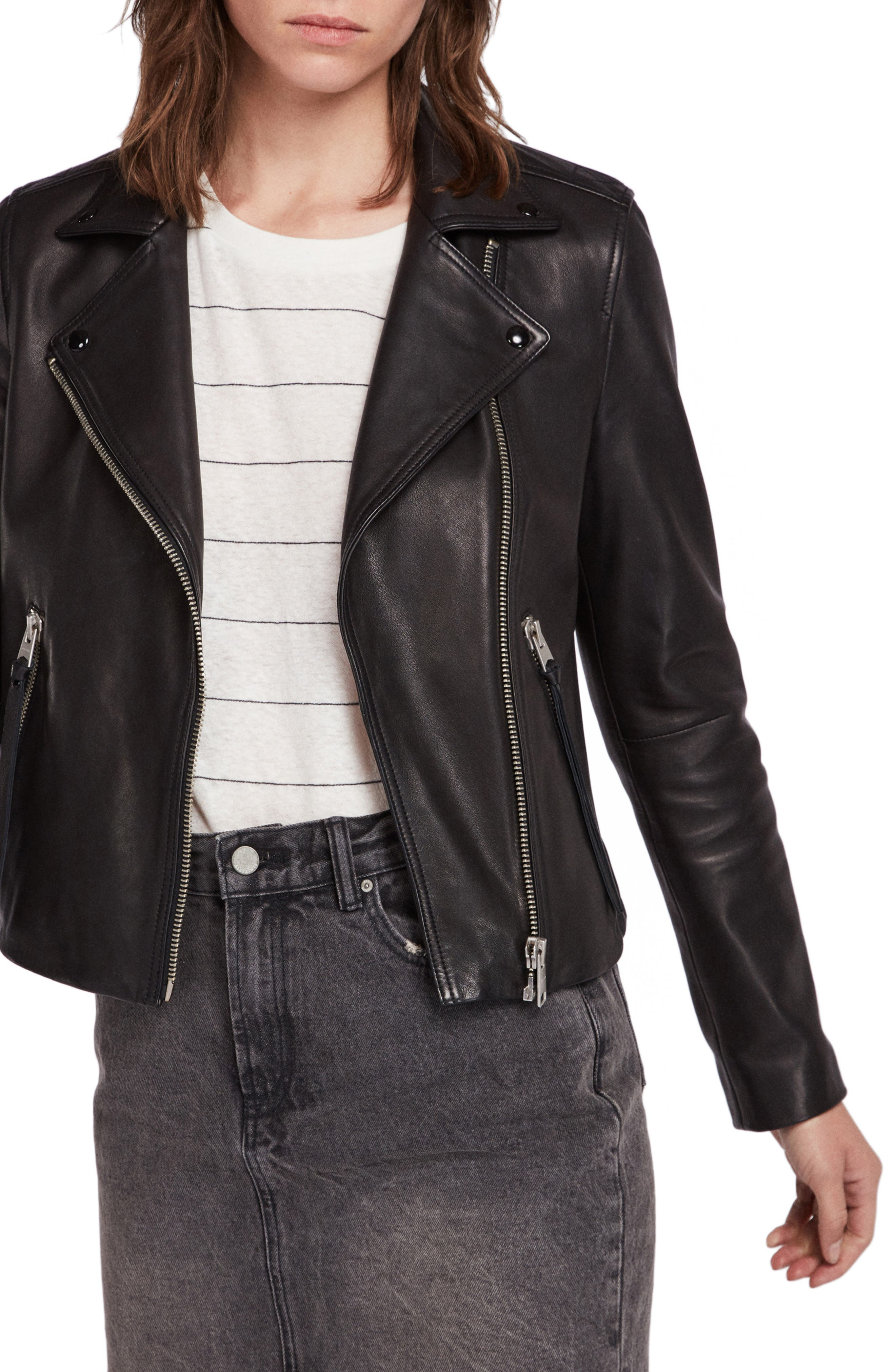 23497de394e Allsaints dalby biker jacket main color black jpg 780x1196 Biker jacket