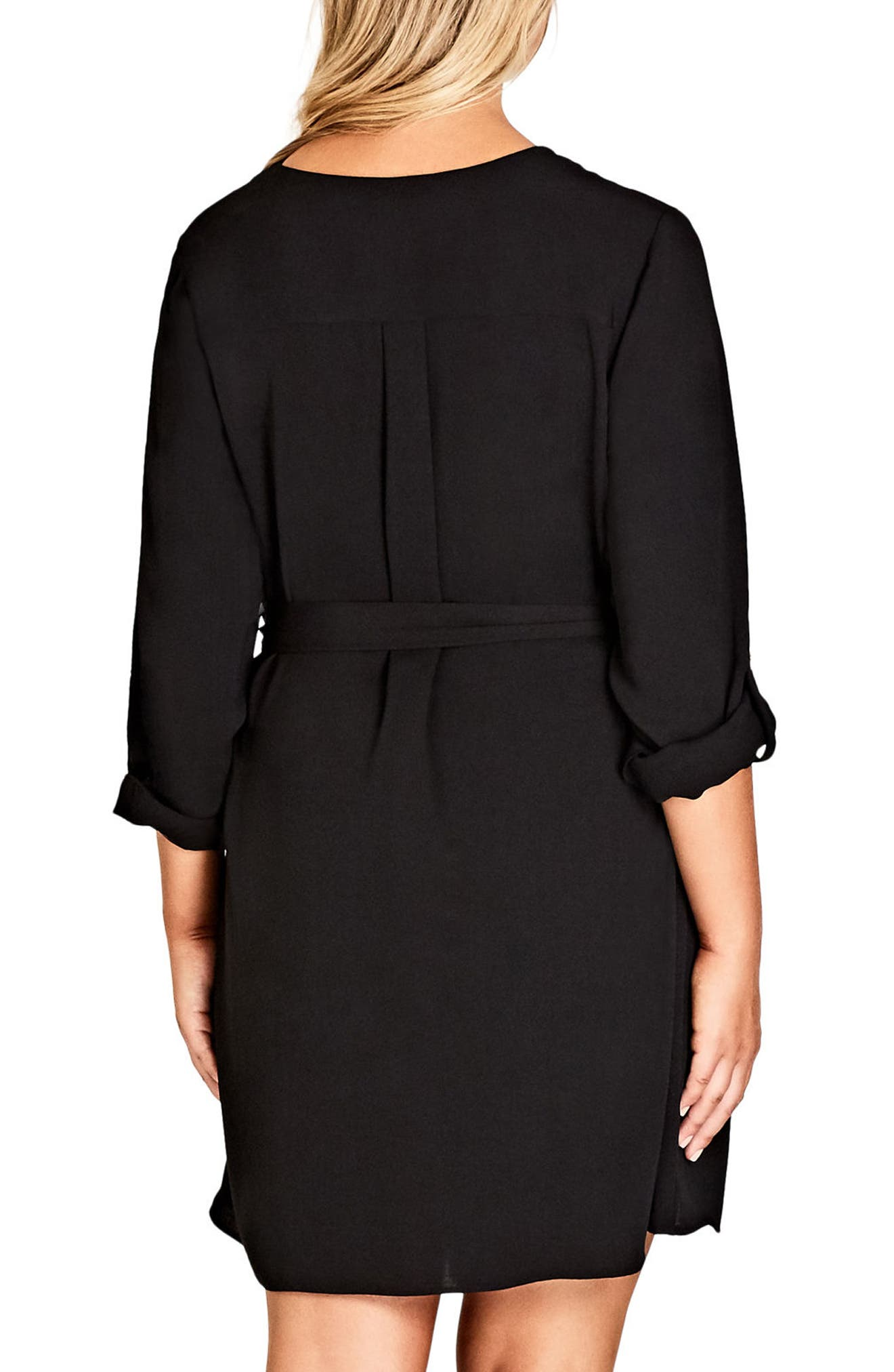 Pierced Heart Belted Tunic,                             Alternate thumbnail 2, color,                             001